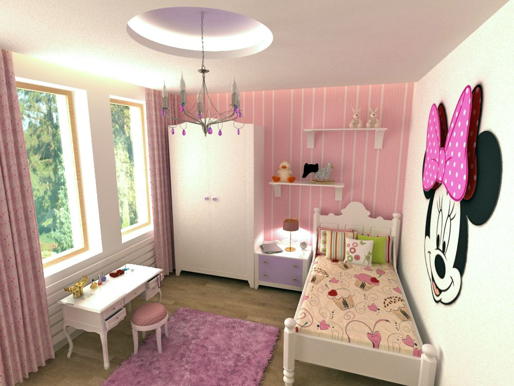 Little girl bedroom interior design projects pinterest for Interior design for female bedroom