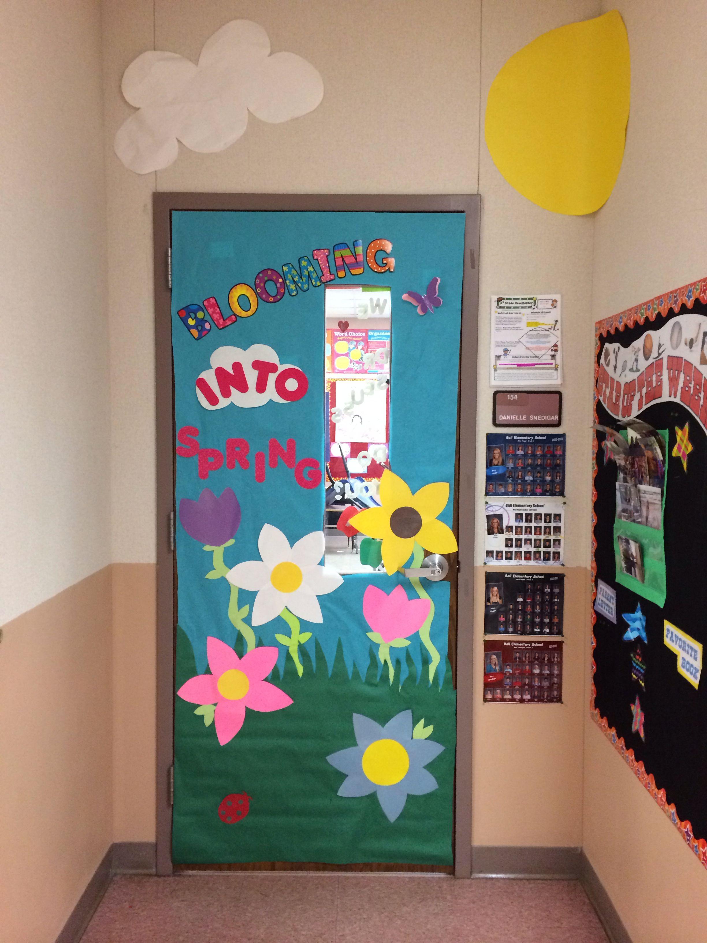 Spring classroom door | Classroom | Pinterest