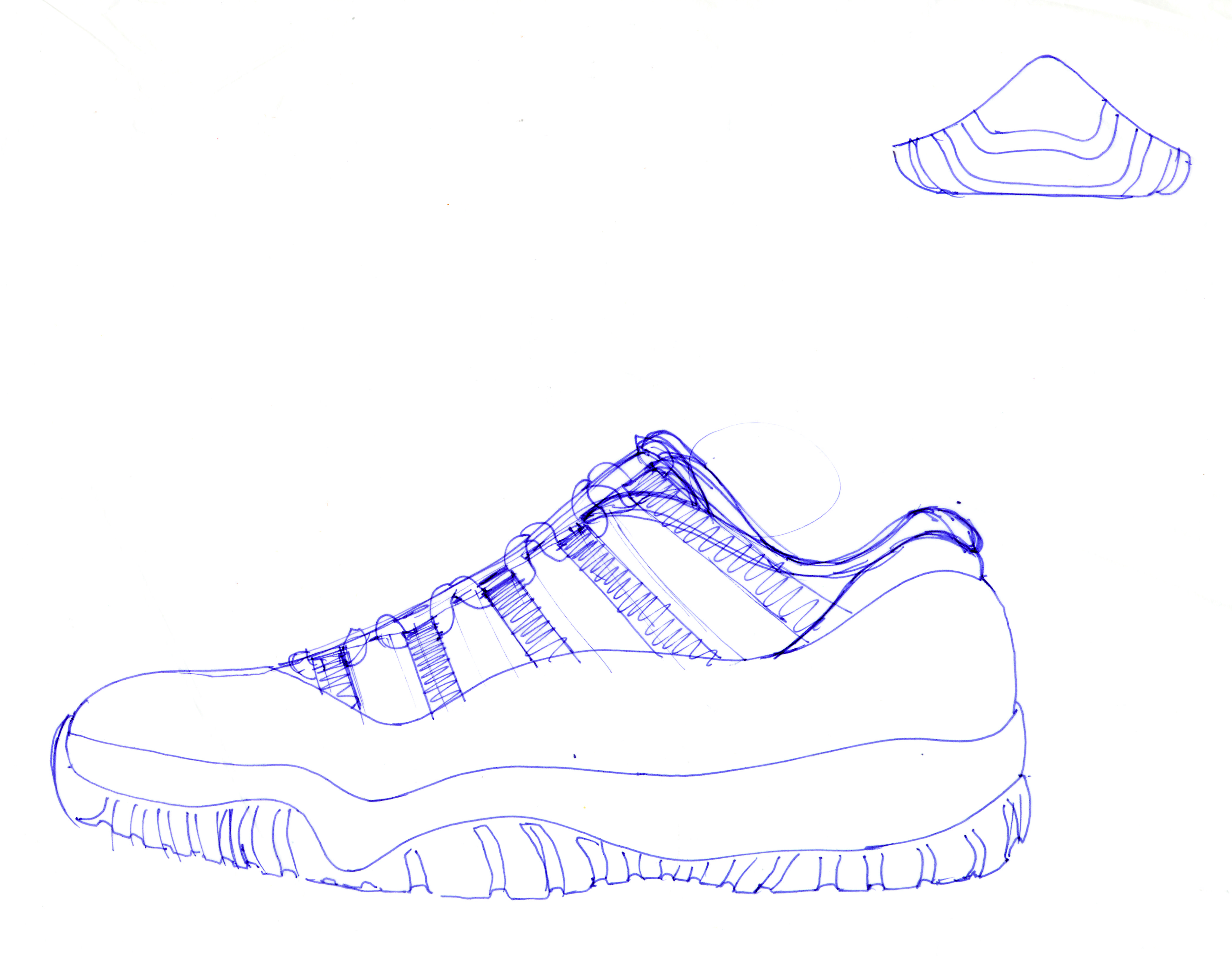 Air Jordan 8 Sketch Templates