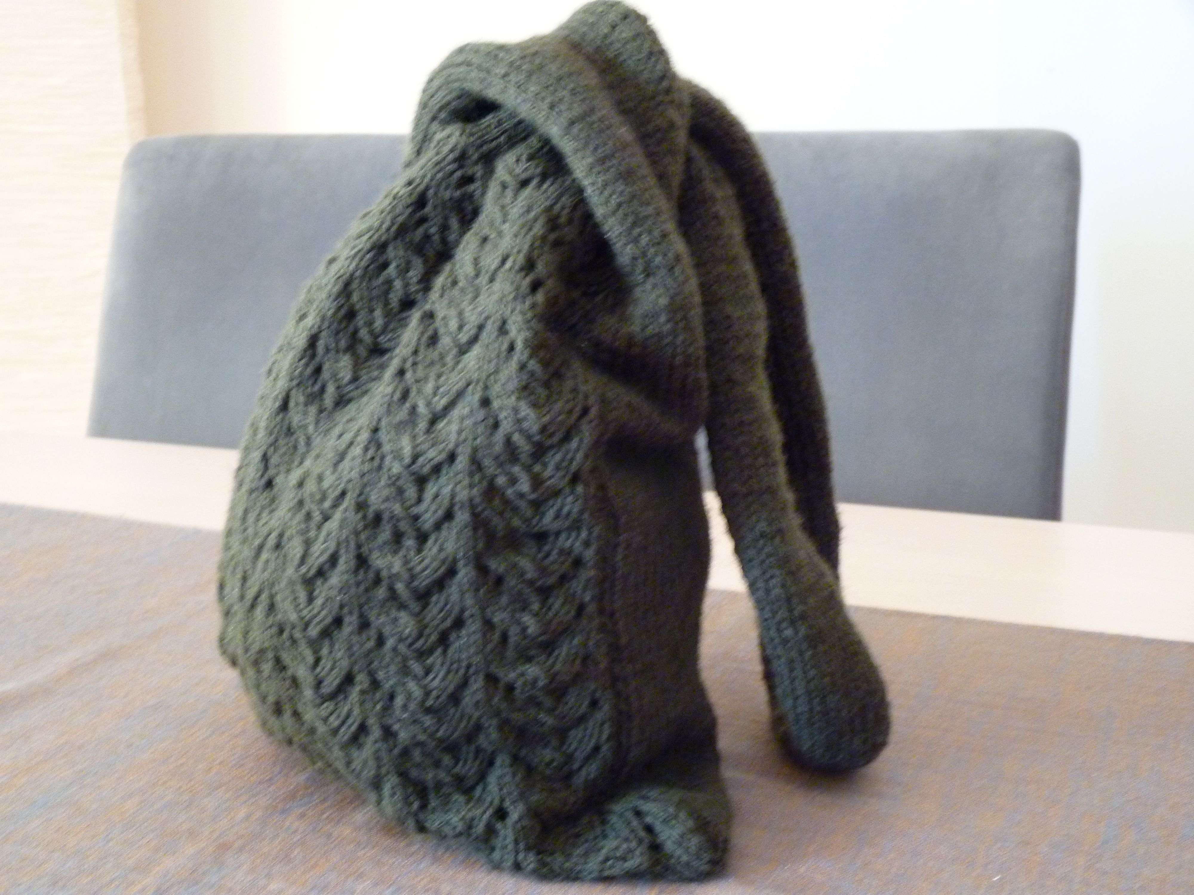 knitted japanese knot bag crafts Pinterest