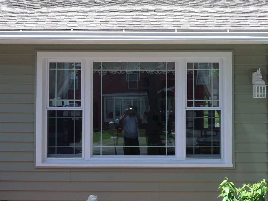 Installed vinyl windows in new house