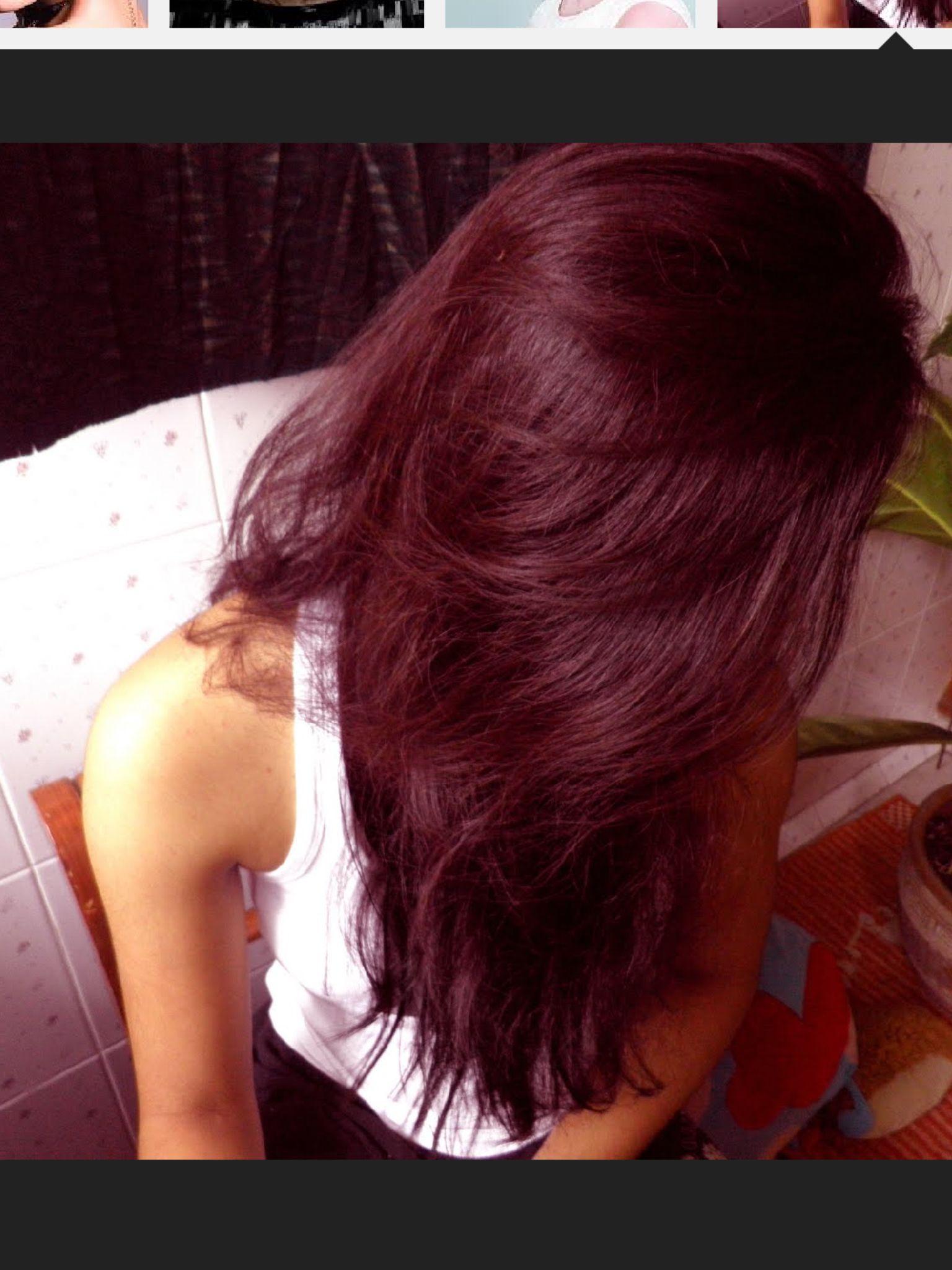 dark brown hair tips dyed