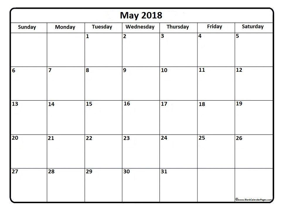 May 2018 calendar . May 2018 calendar printable | Printable ...