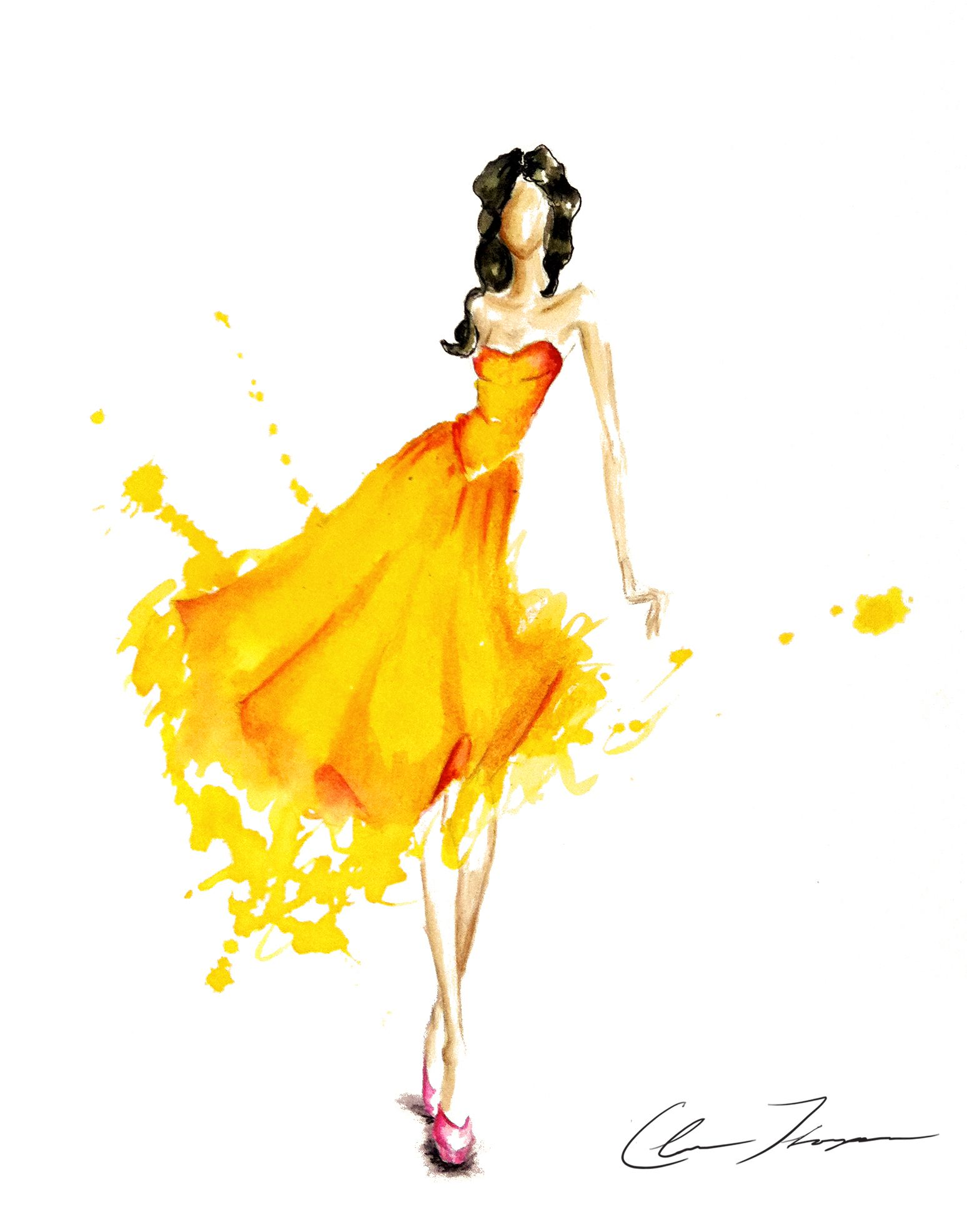 Digital fashion illustration with photoshop and illustrator 49