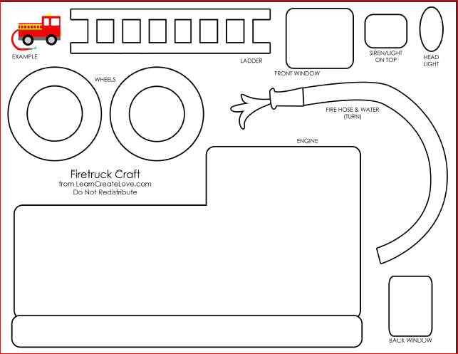 Printable Fire Truck Stencil Related Keywords