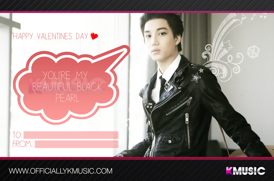 valentines day card kpop