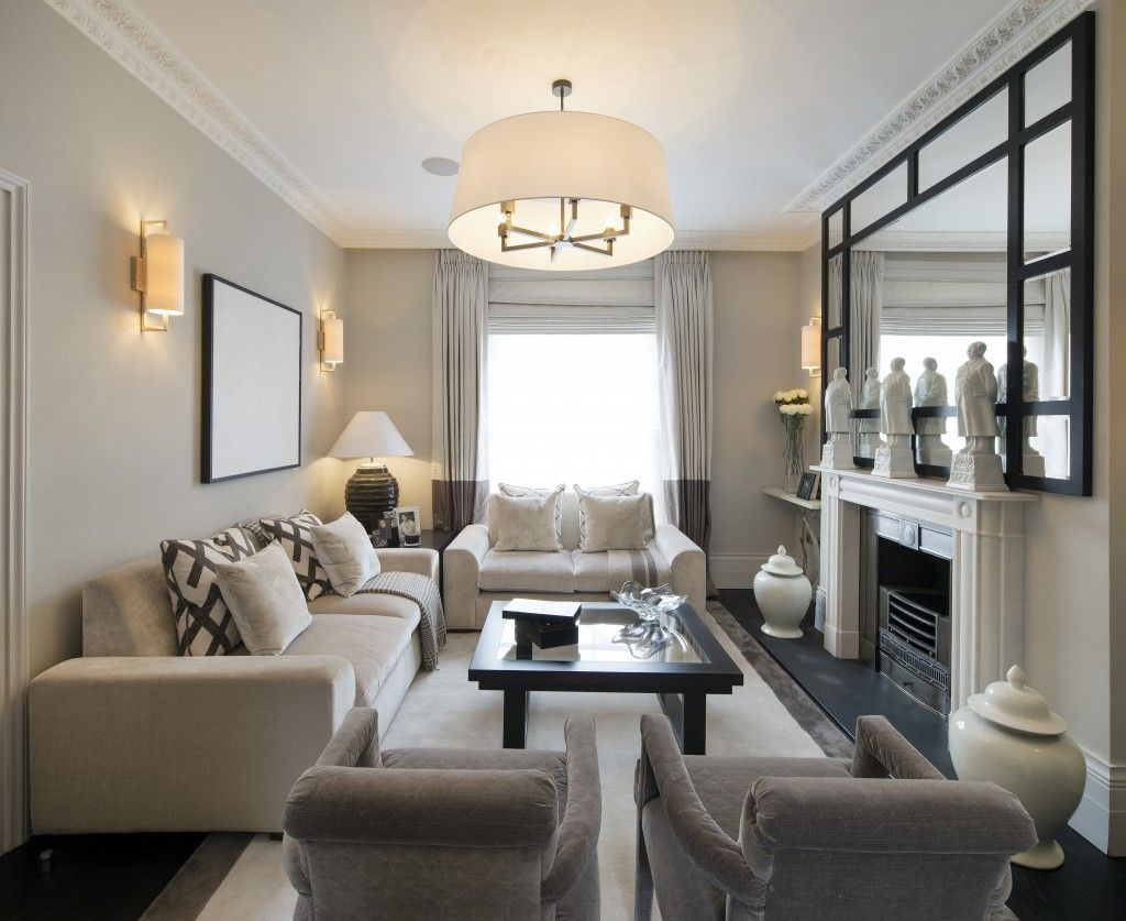 living room design long narrow  Note furniture placement in small living room … | living room | Pinte…