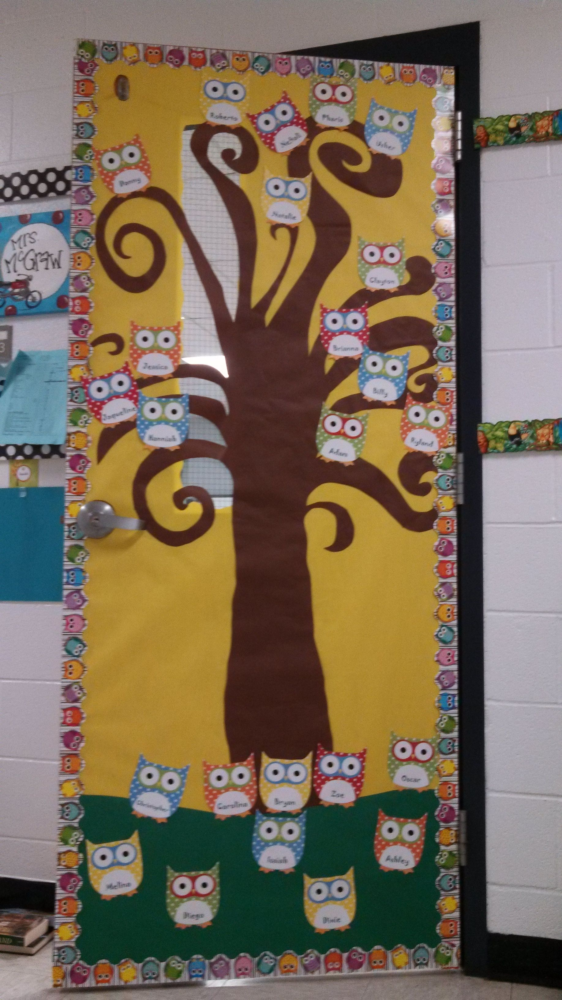 Christmas Decoration Ideas Kindergarten : Owl door decor teaching stuff