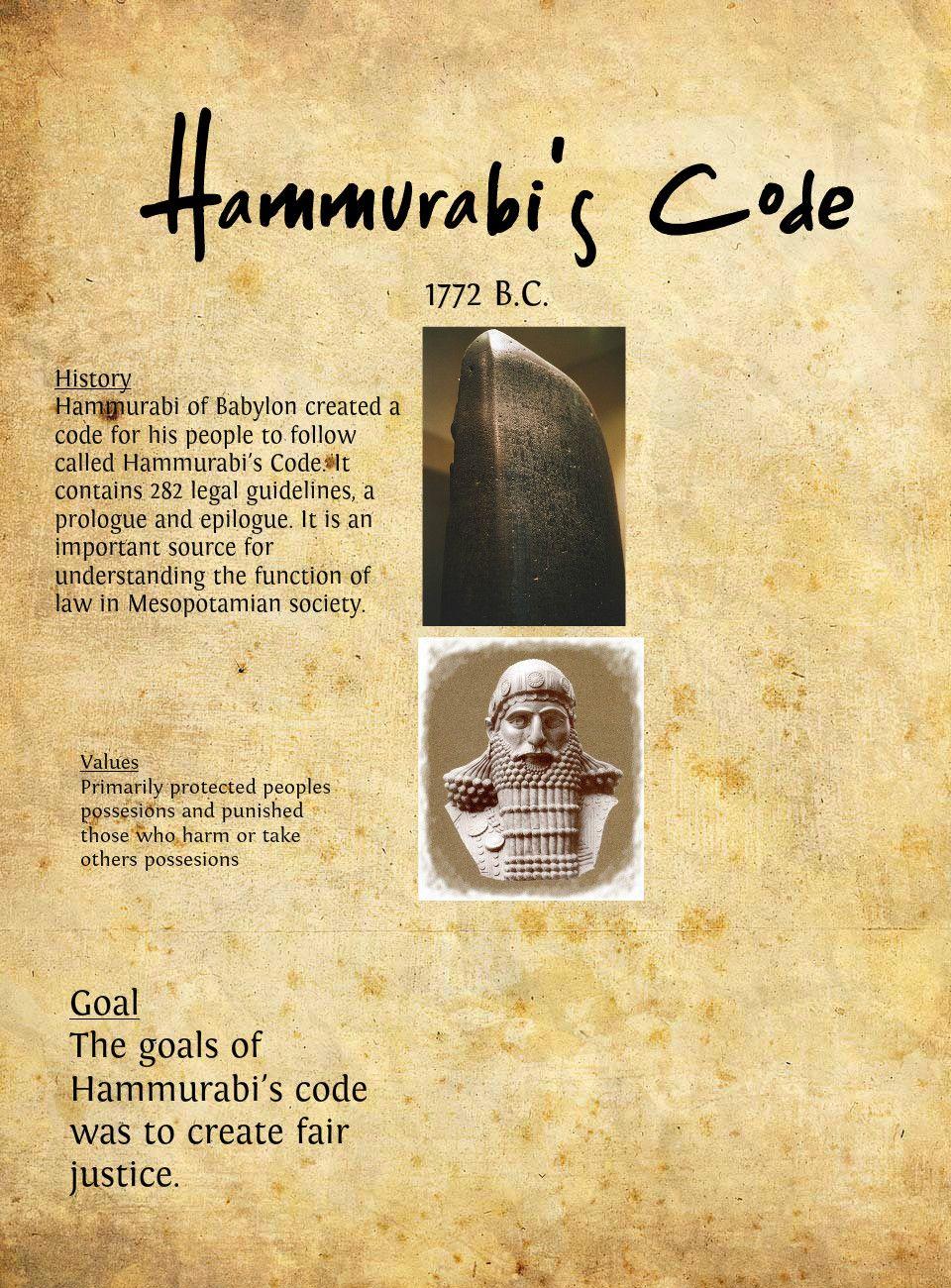 code of hammurabi research paper