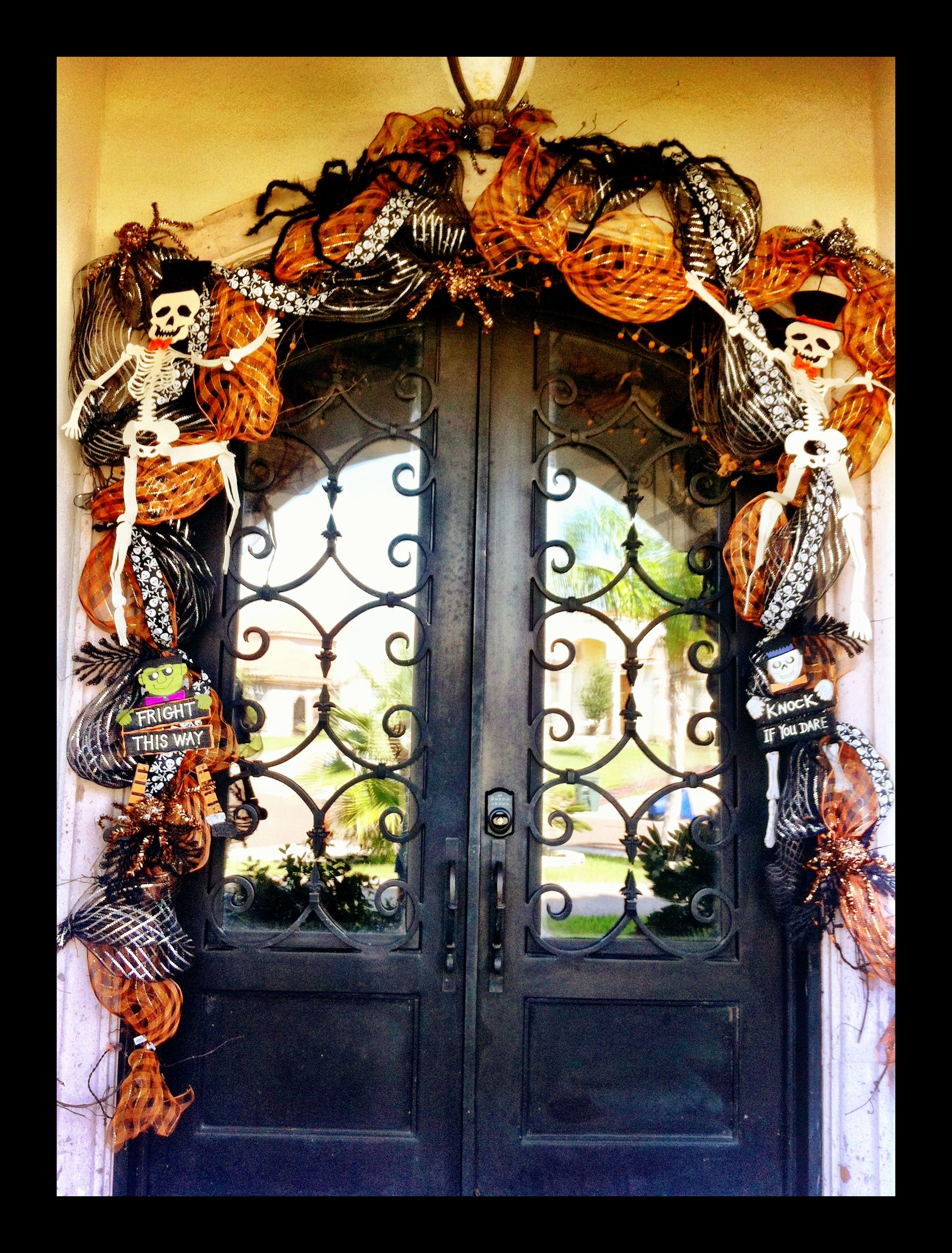 Halloween Door Decor Halloween Door Decor Pinterest