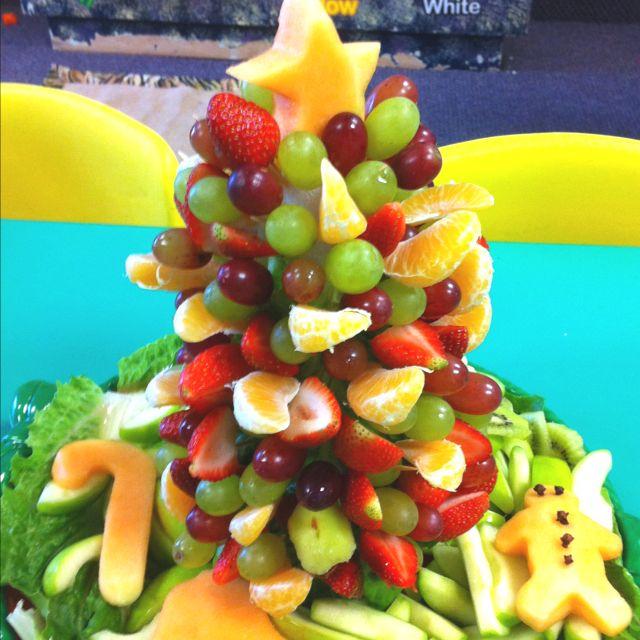 Fruit Christmas Tree   Food   Pinterest