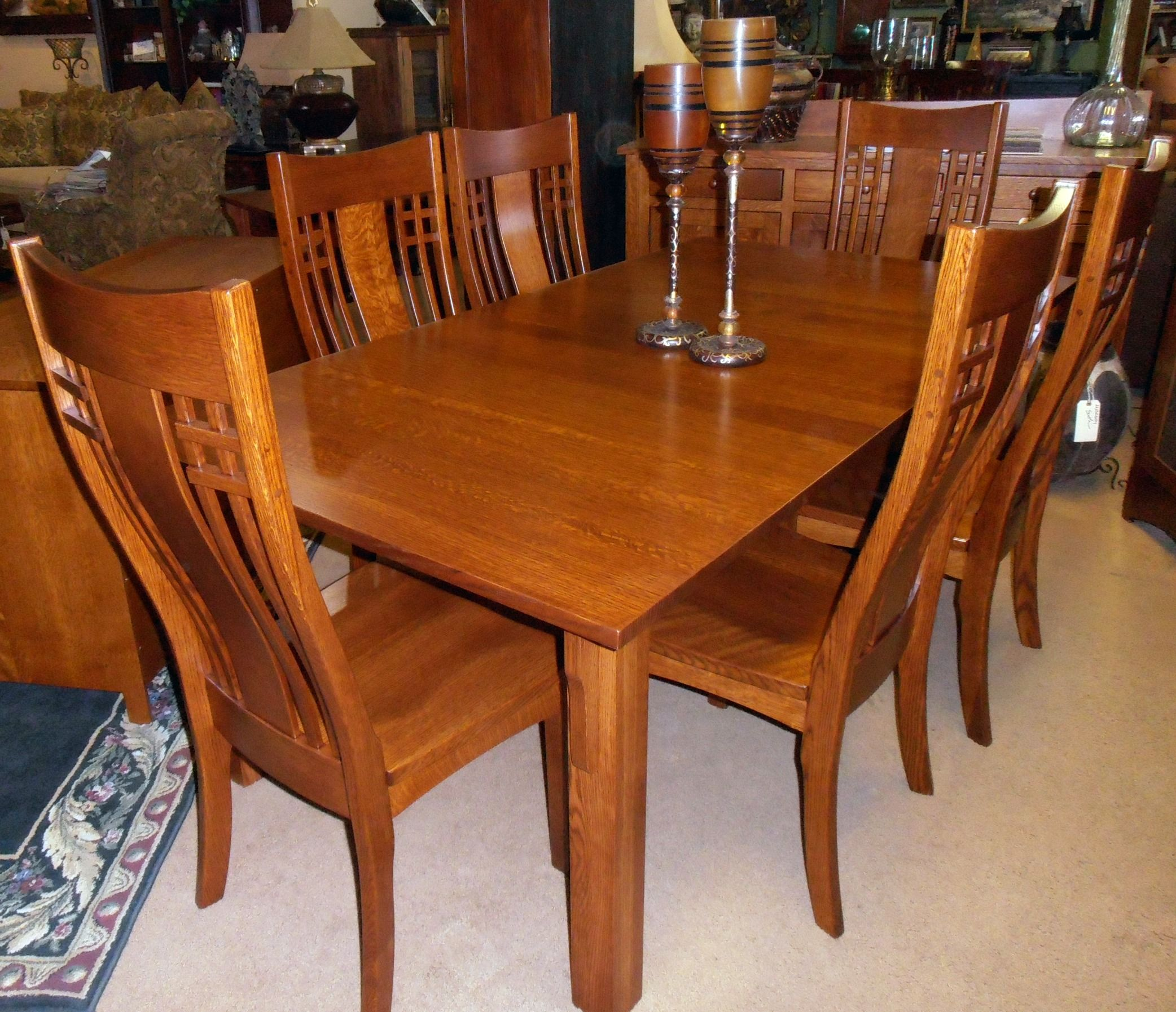 Craftsman style dining table craftsman furniture pinterest for Mission style dining table