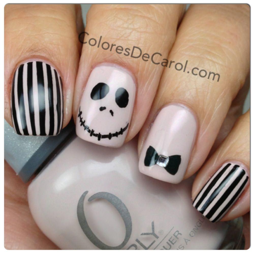 Halloween Nail Art Jack Skeleton ~ Zoya nail polish jack the ...