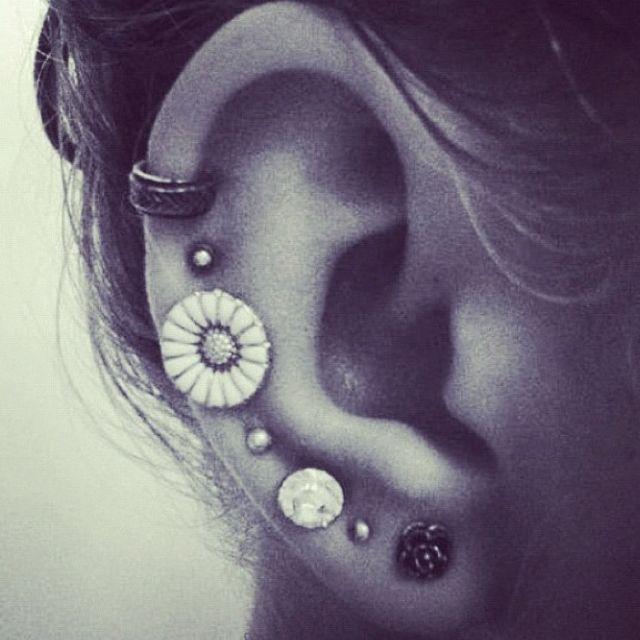 Cute ear piercings | My Style | Pinterest