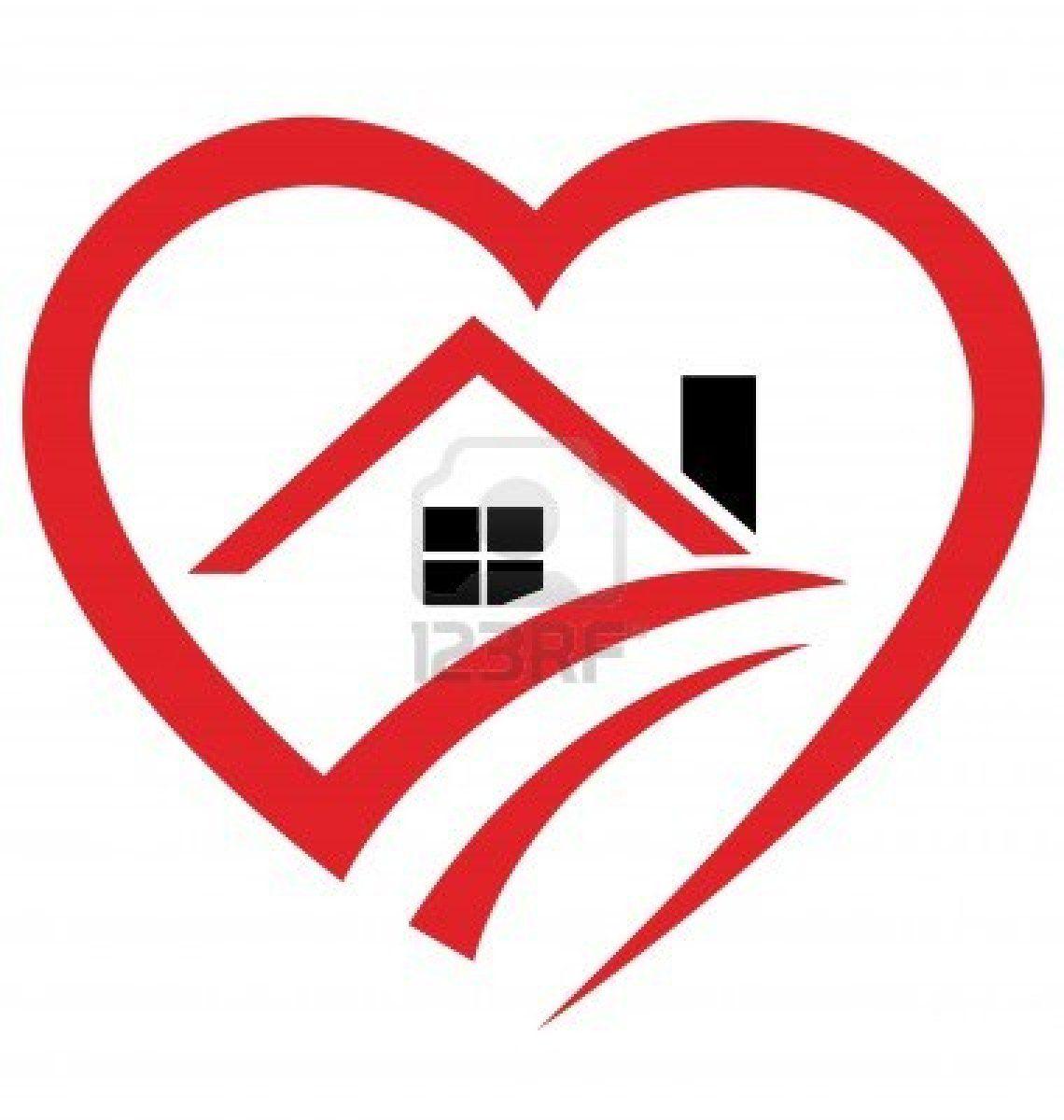 House Heart Logo Stock Photo 14161518 Hearts