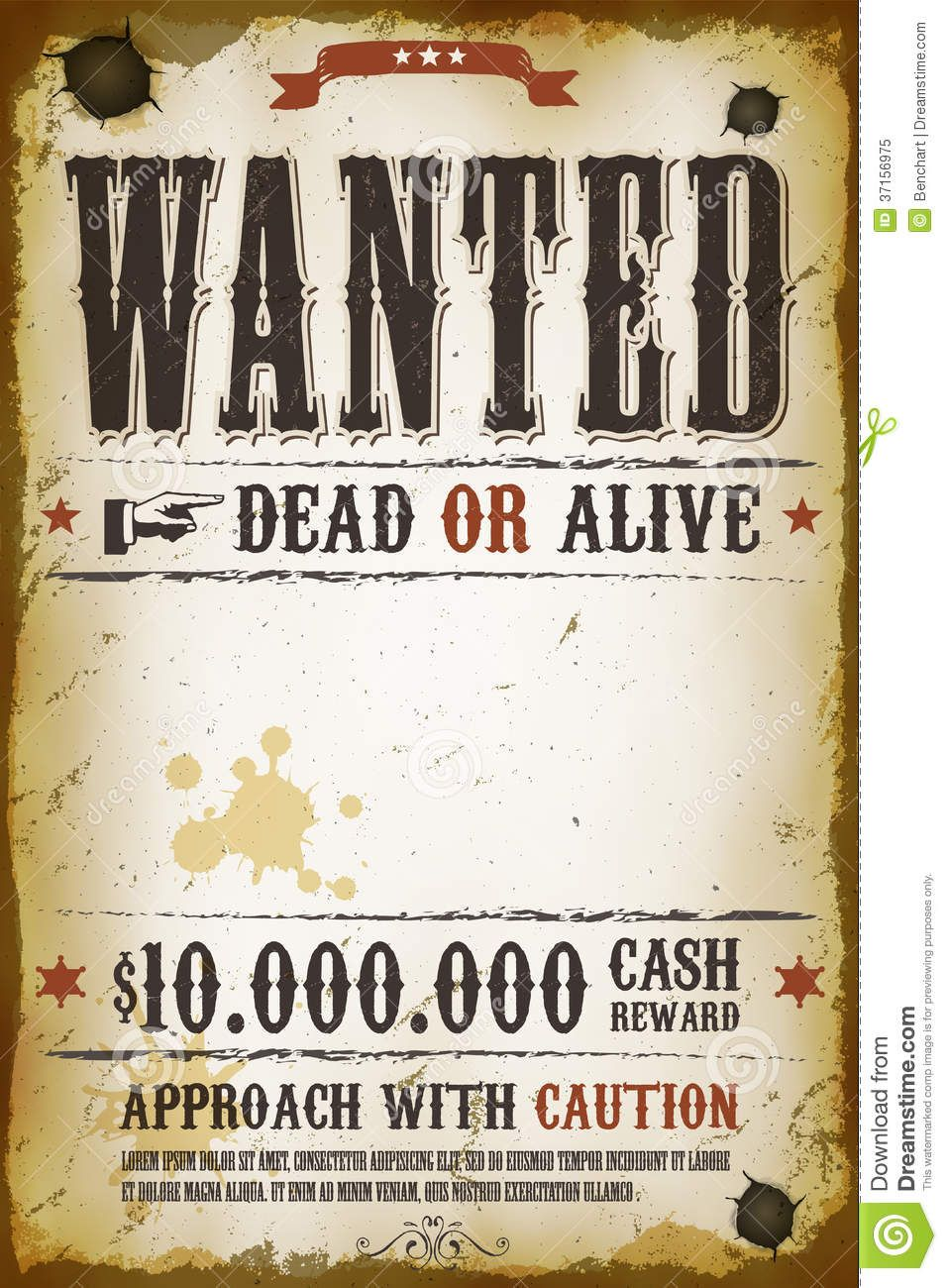 Wanted poster template for microsoft word