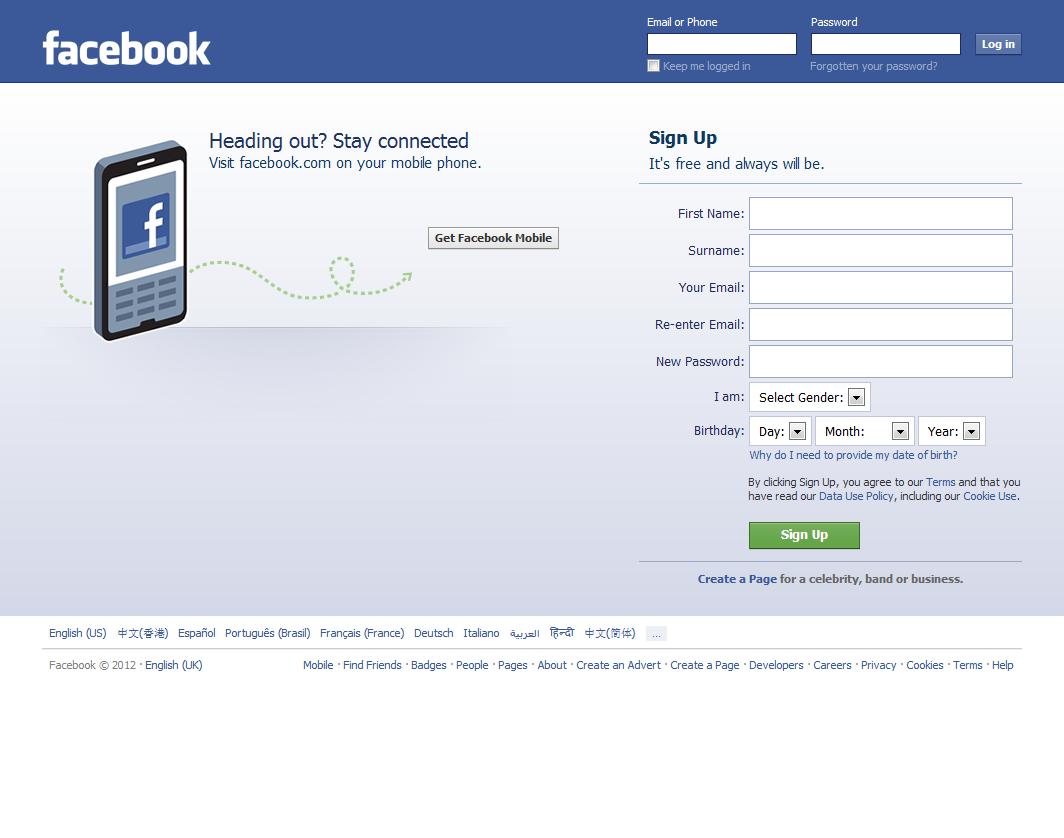 Facebook Sign In images