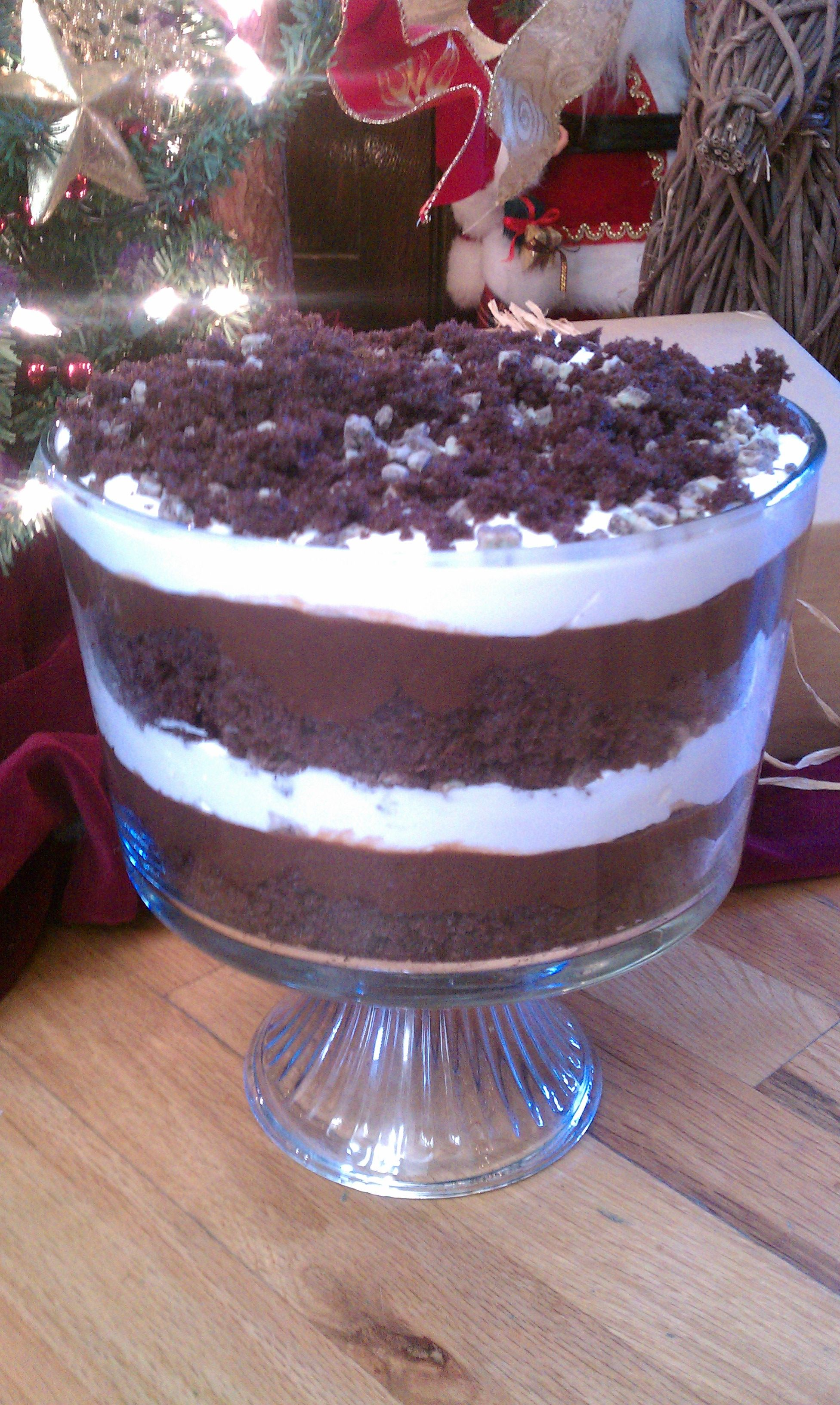 Yummy Chocolate Mint Trifle!!! | Sweets and Treats | Pinterest