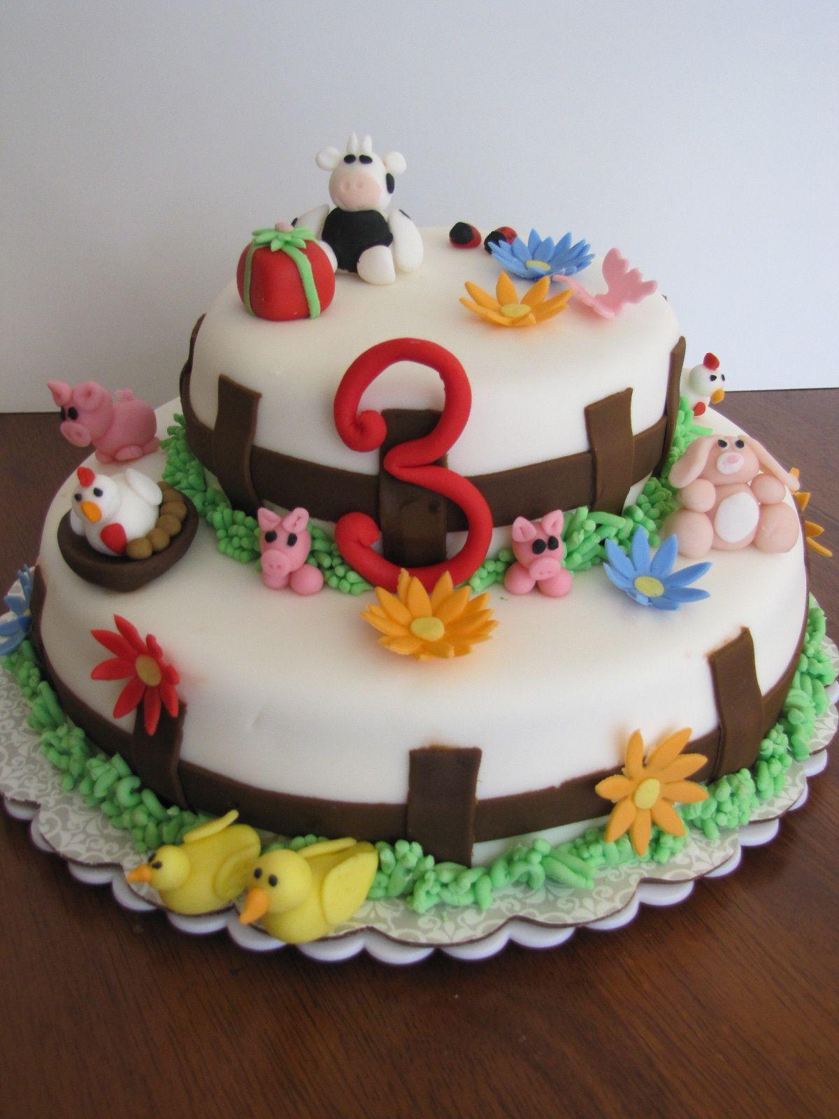 farm animal cake Birthday ideas Pinterest