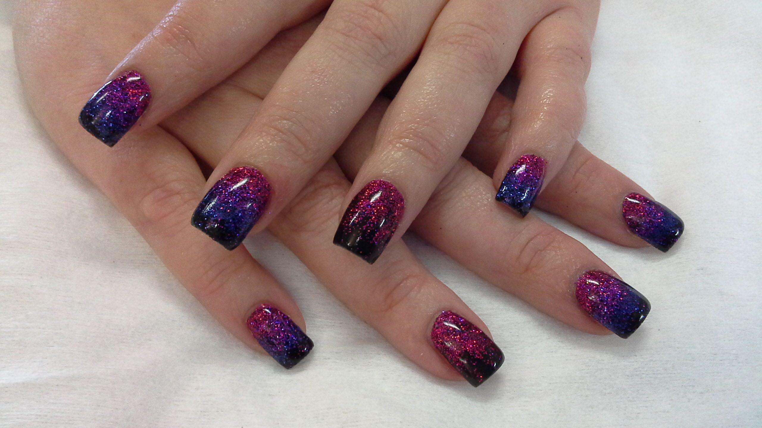 Faded Glitter Nail Designs