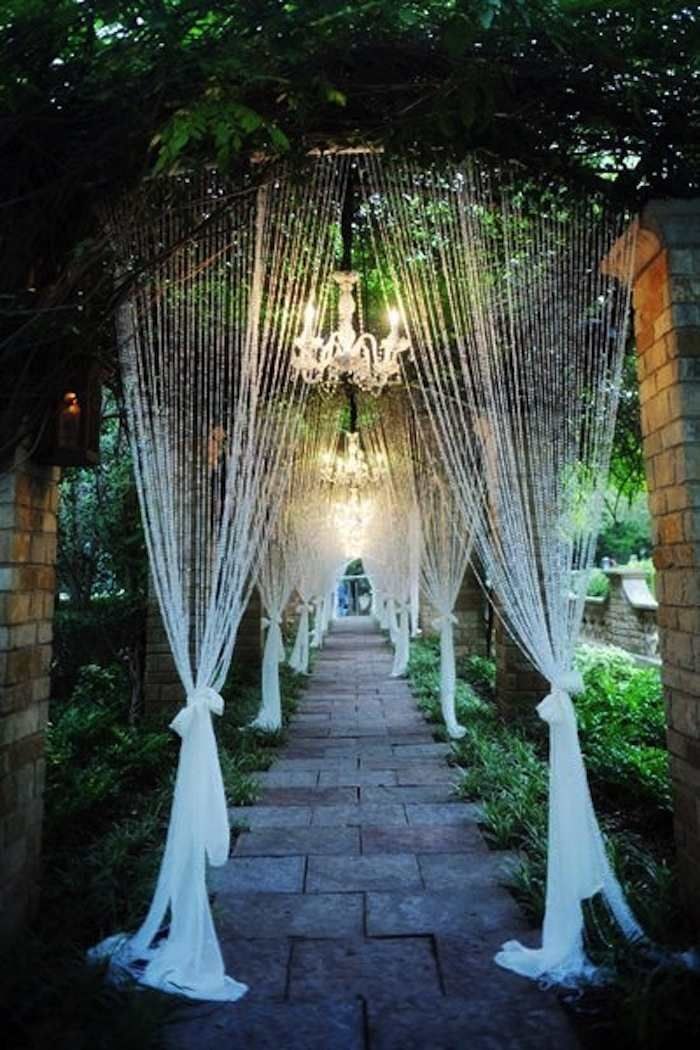 Photo: Andrea Polito Photography Such an enchanted walkway!