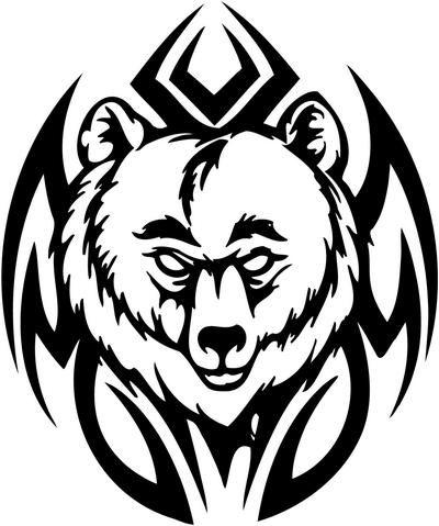 Tribal bear stencil