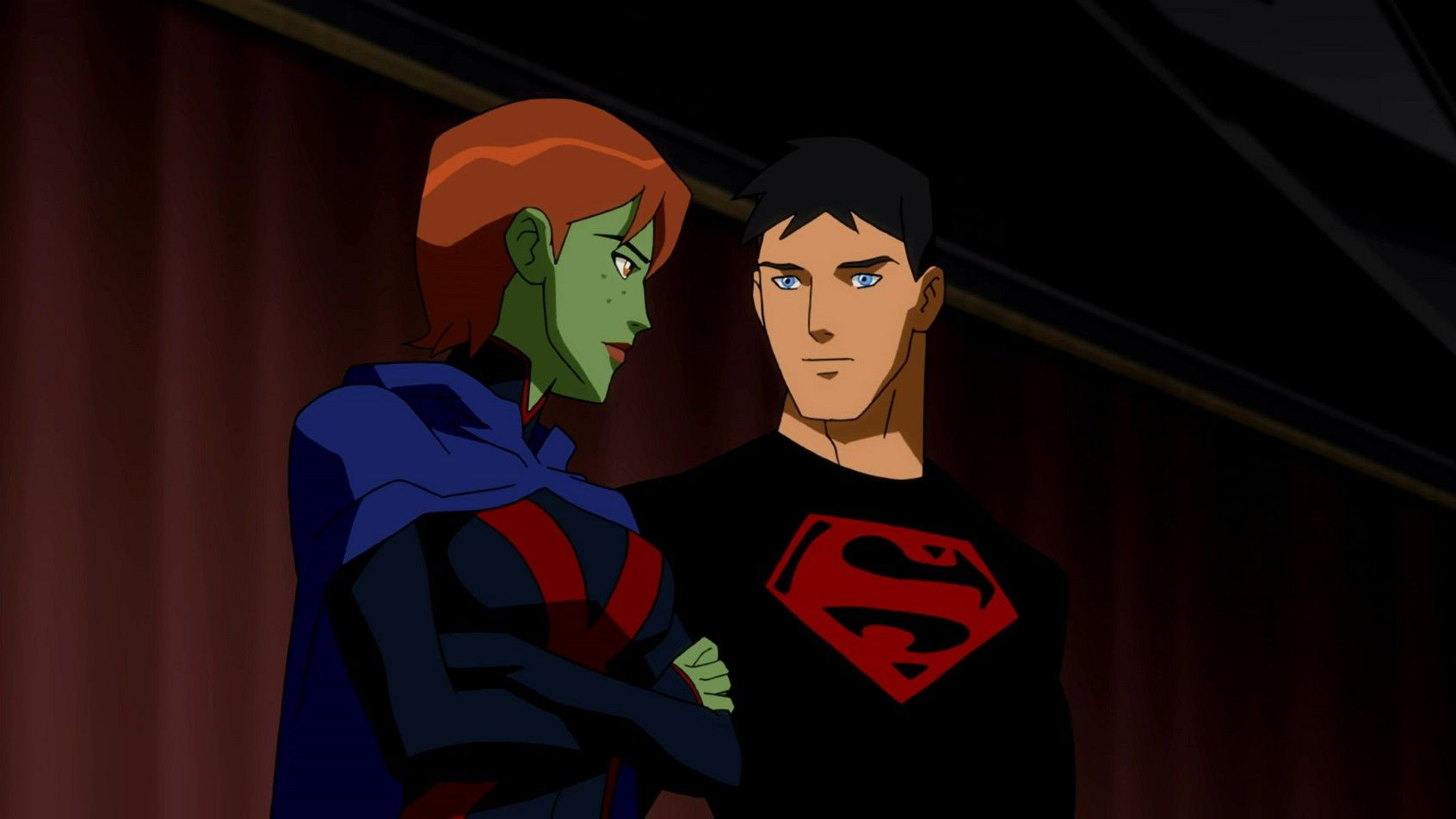 Young Justice Superboy And Miss Martian Get Back Together Miss Martian and Super...