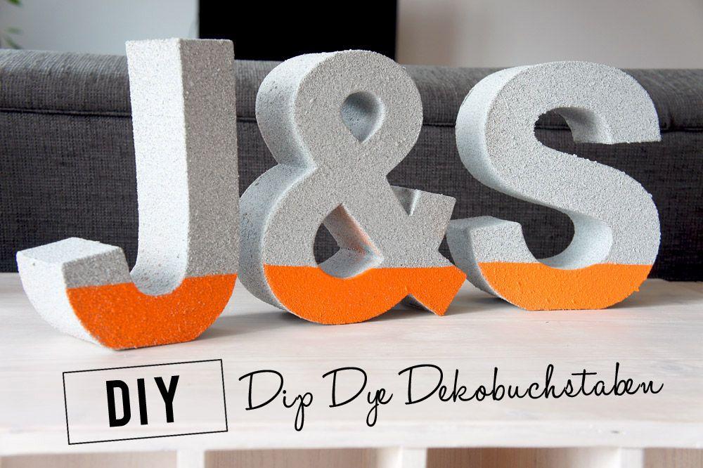 DiY Dip Dye Dekobuchstaben | DIY
