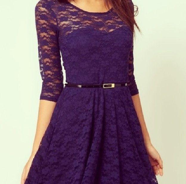 Pretty purple lace dress bridesmaid dress ideas pinterest for Purple lace wedding dress