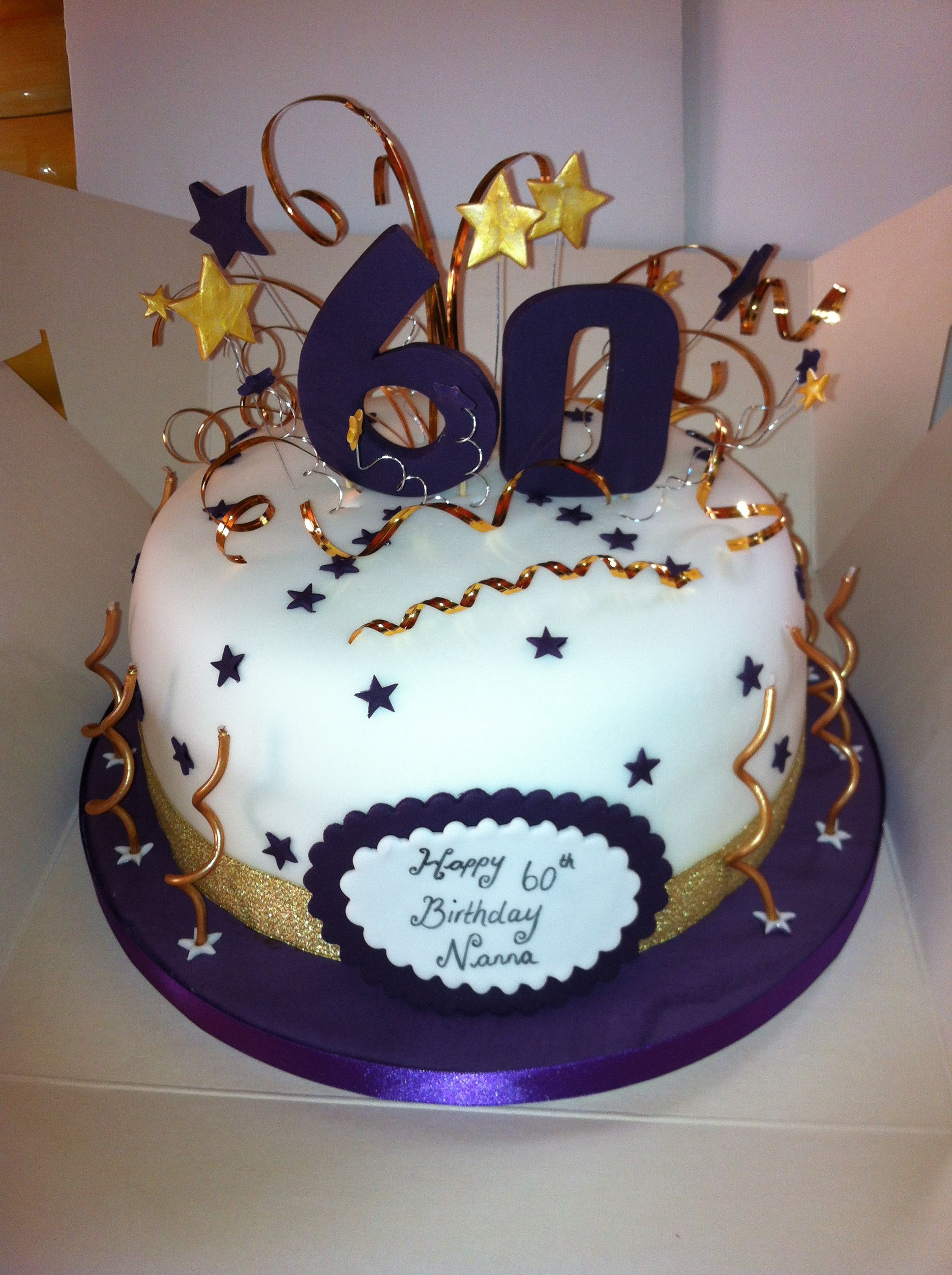 60th birthday cakes pictures