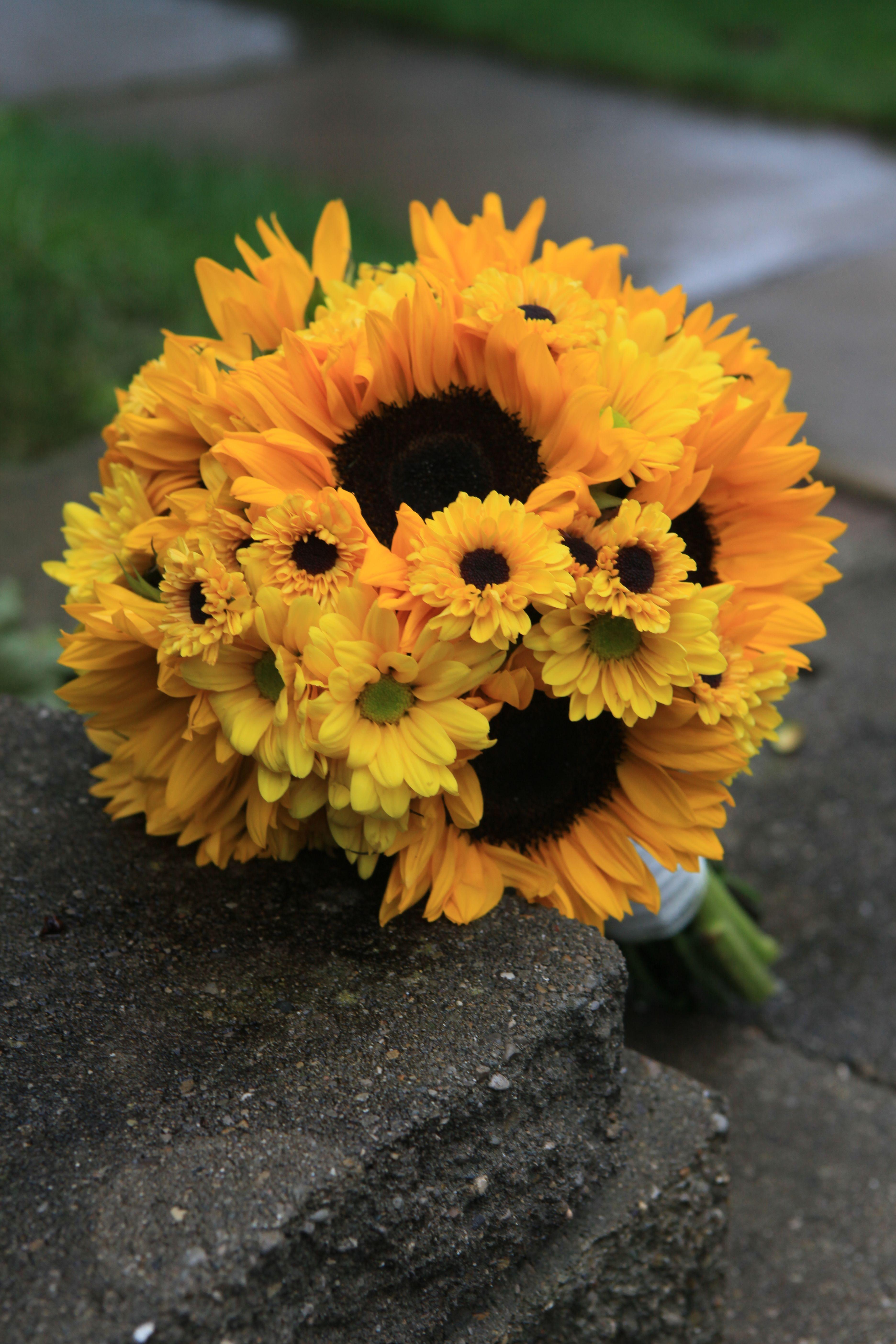 Sunflowers Bouquet Wedding Bouquets Pinterest