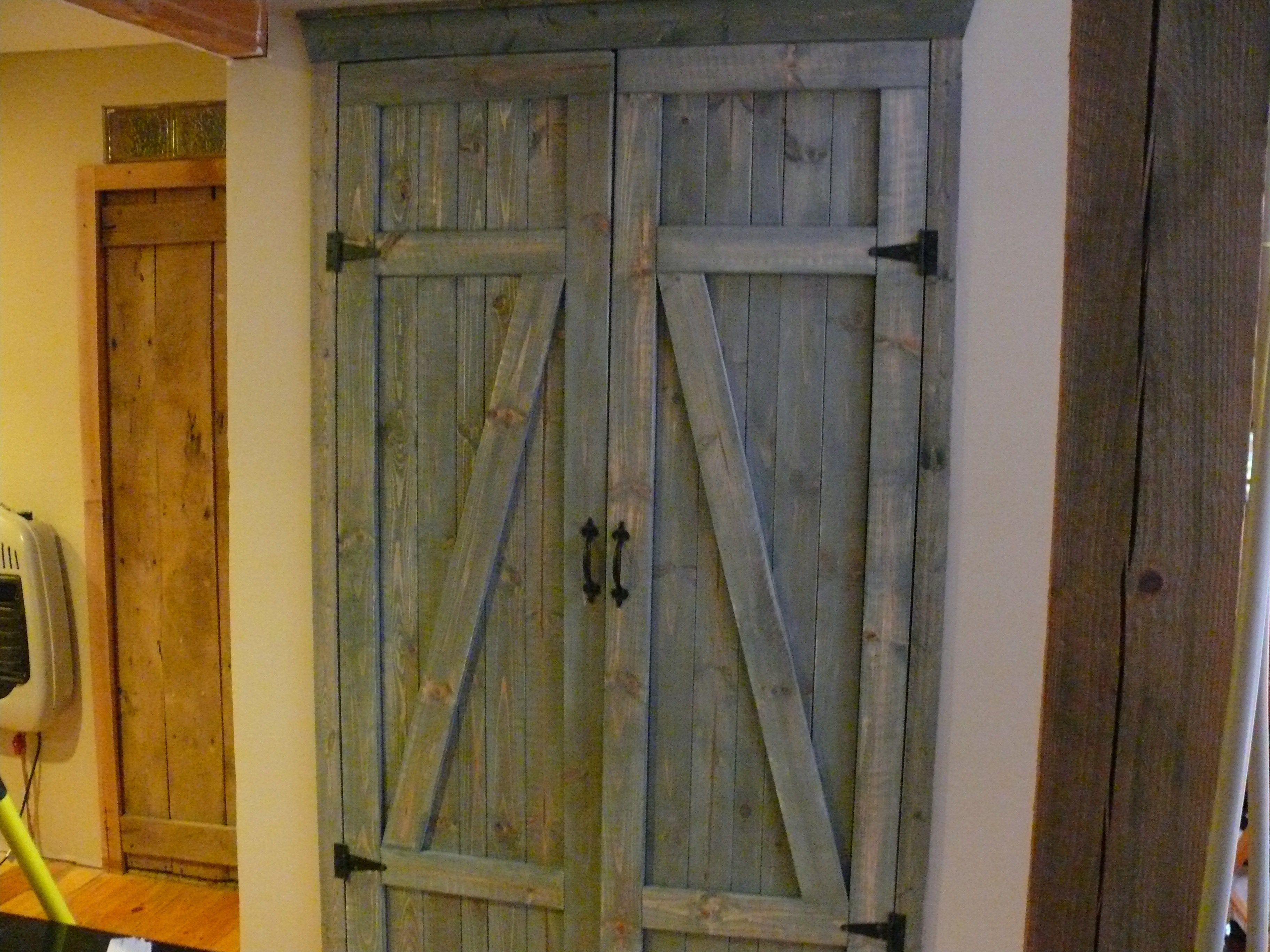 Homemade Barn Doors For Laundry Closet Home Diy