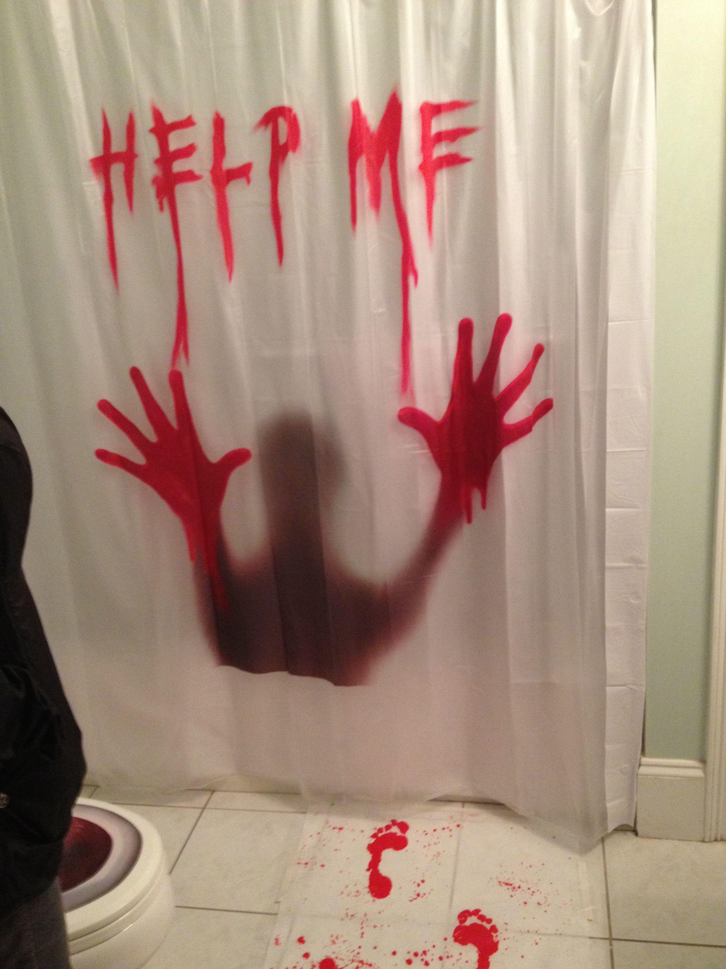 Scary bathroom for Halloween  Halloween: Bathroom Decor  Pinterest