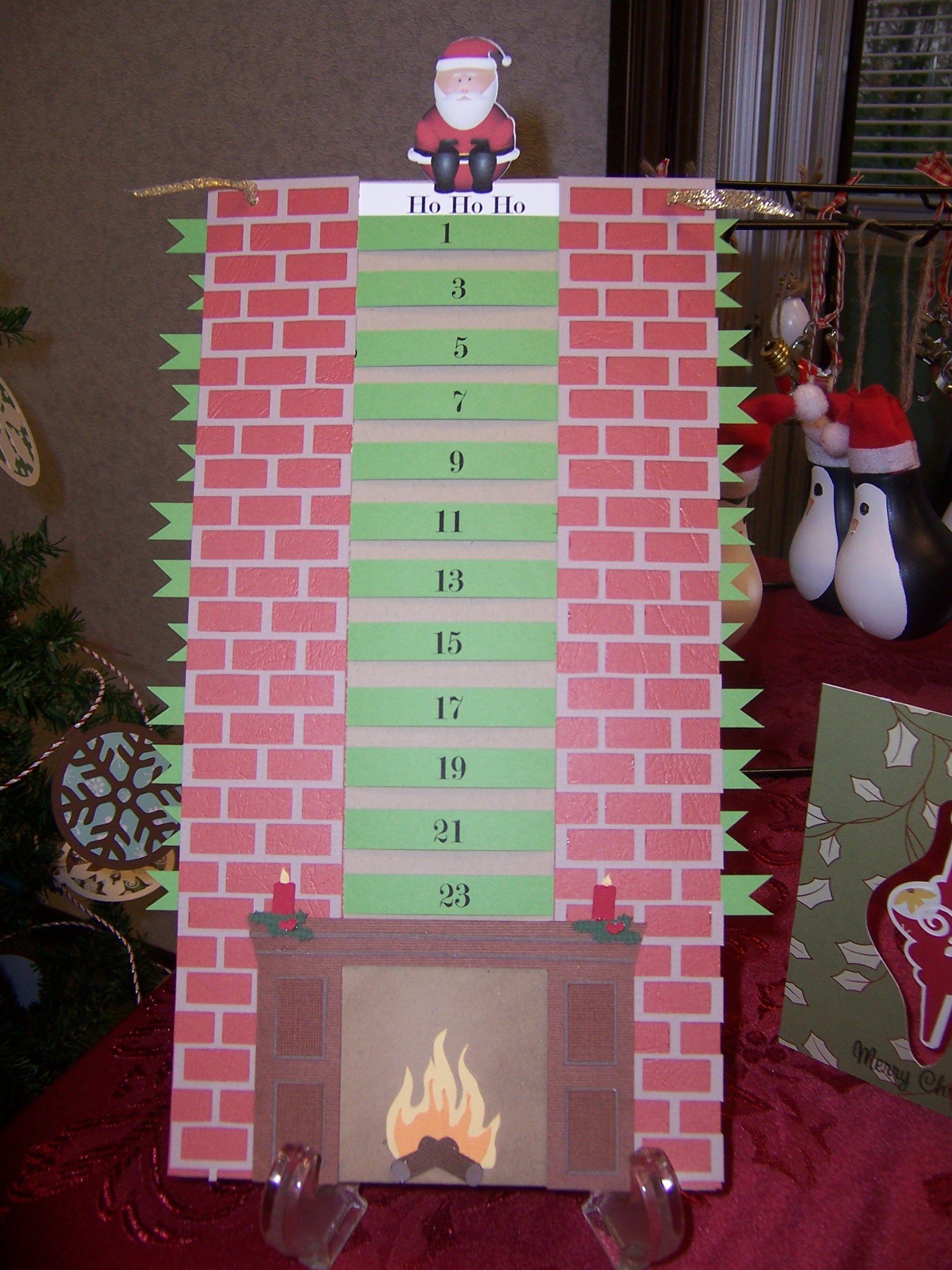 Chimney Advent Calendar   Cards I've Made   Pinterest