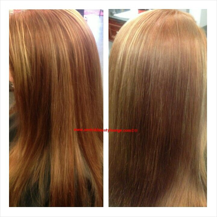 Long Layered Hair Strawberry Blonde Copper Lowlights