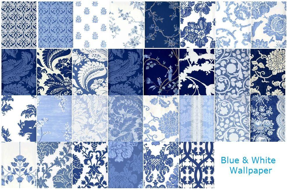 blue and white wallpaper fabrics trims wallpaper