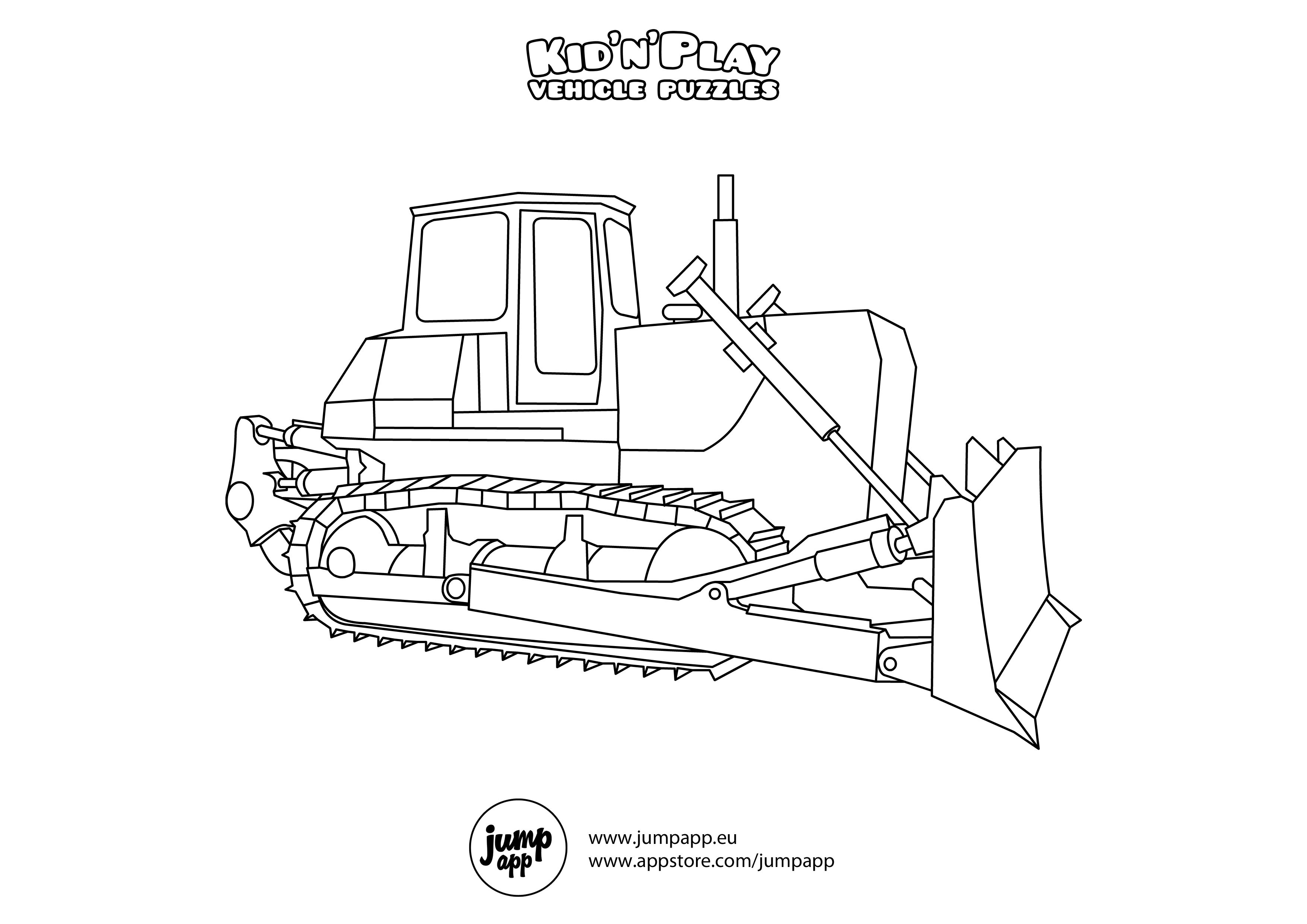 bull dozer coloring pages - photo#16
