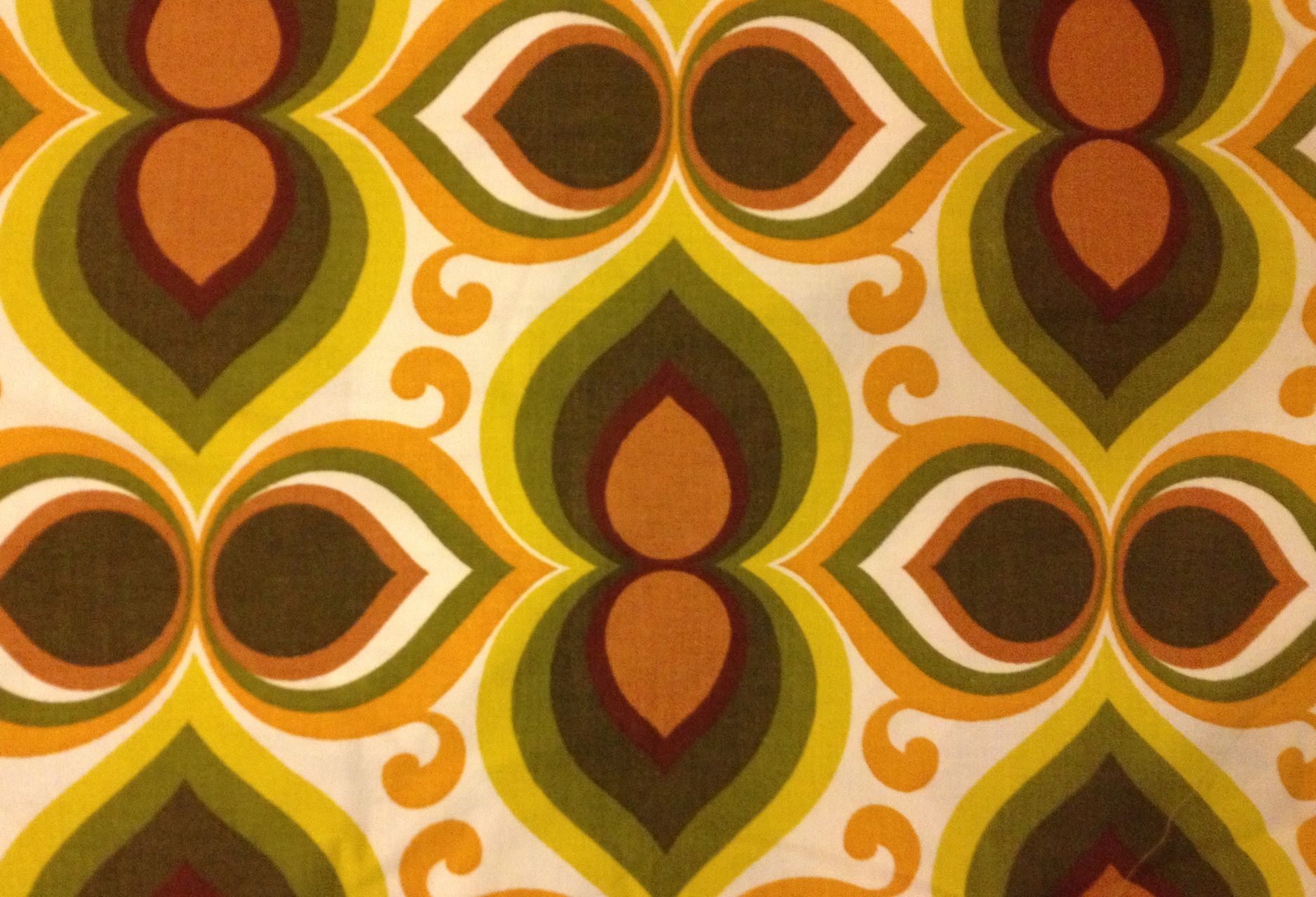French retro 70s fabric nifty 50s pinterest for Retro fabric