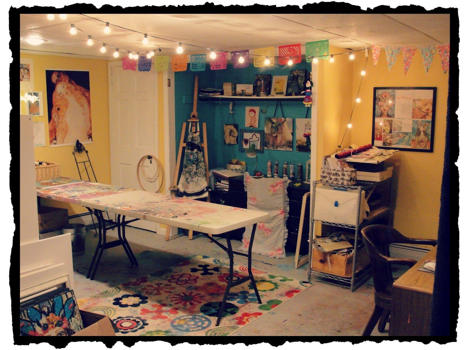 Decorating Ideas > Art Studio In Basement  Cute And Smart Spaces  Pintere ~ 093319_Basement Studio Decorating Ideas