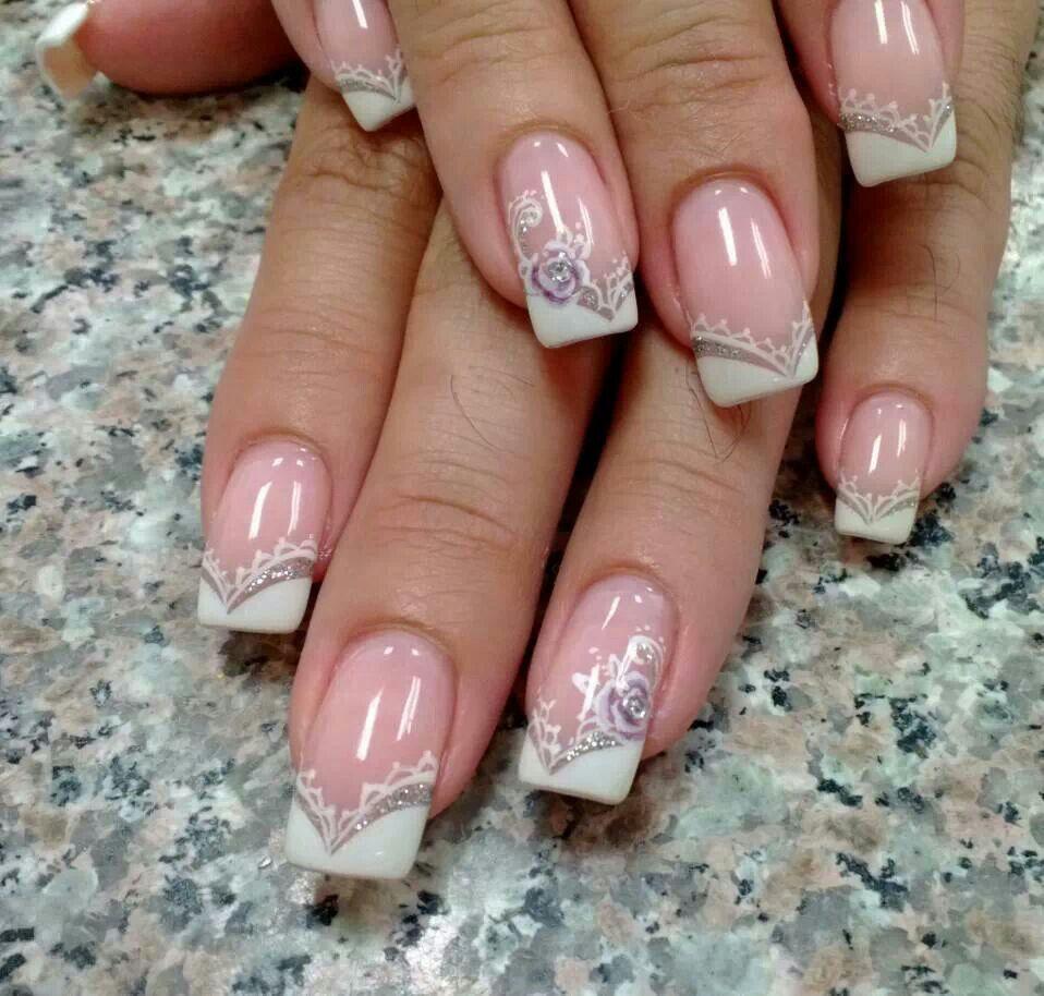 French Wedding Nails