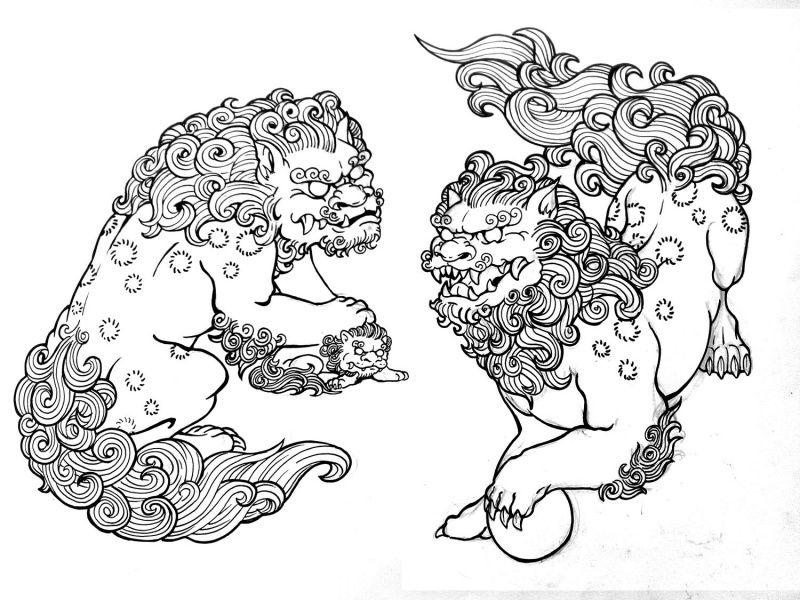 Chinese fu dog art