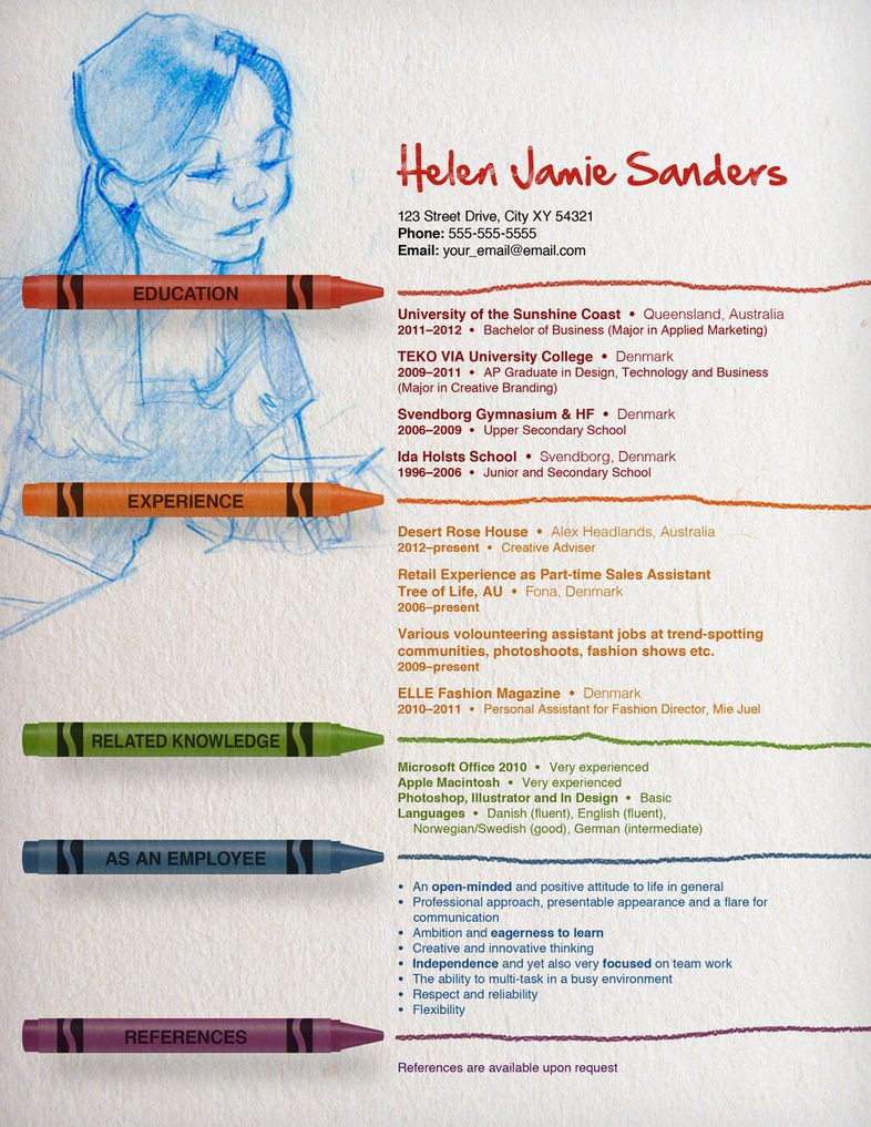 Fantastically Creative Resume And Cv Examples Illustrator  OukasInfo