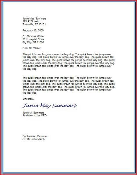 formal letter format bbc