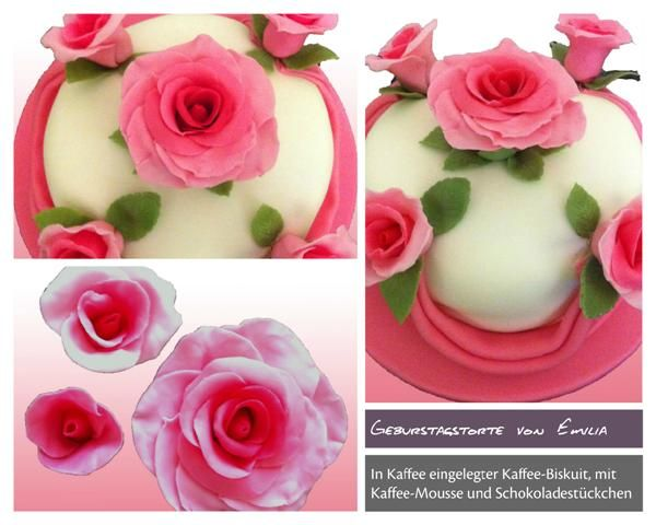 Cake With Roses Pinterest : Birthday cake roses in pink and ghirlade Birthday Cakes ...