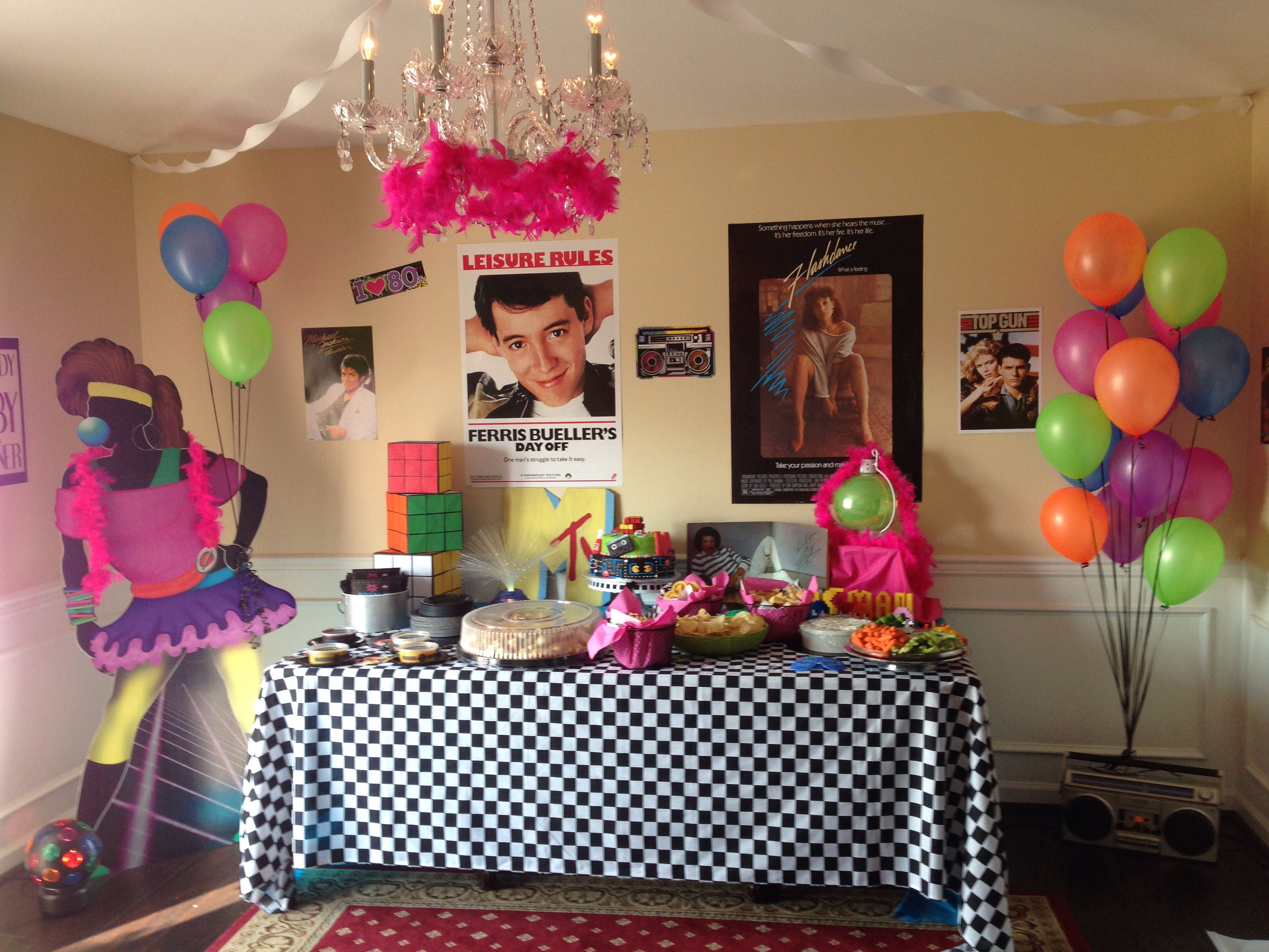 80s party 40th birthday ideas pinterest for 80 s table decoration ideas