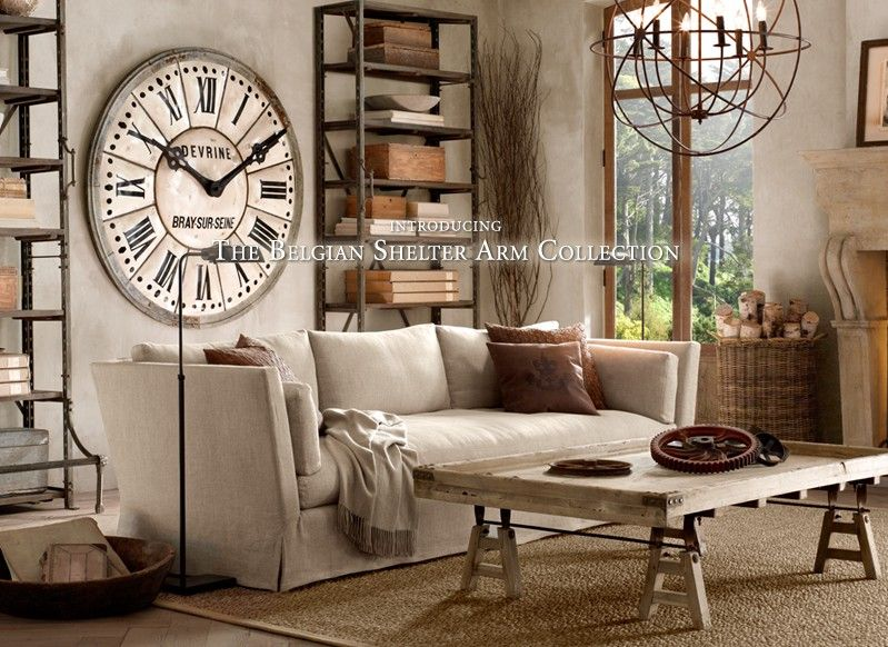 Industrial chic idea for living room for the home for Industrial chic living room