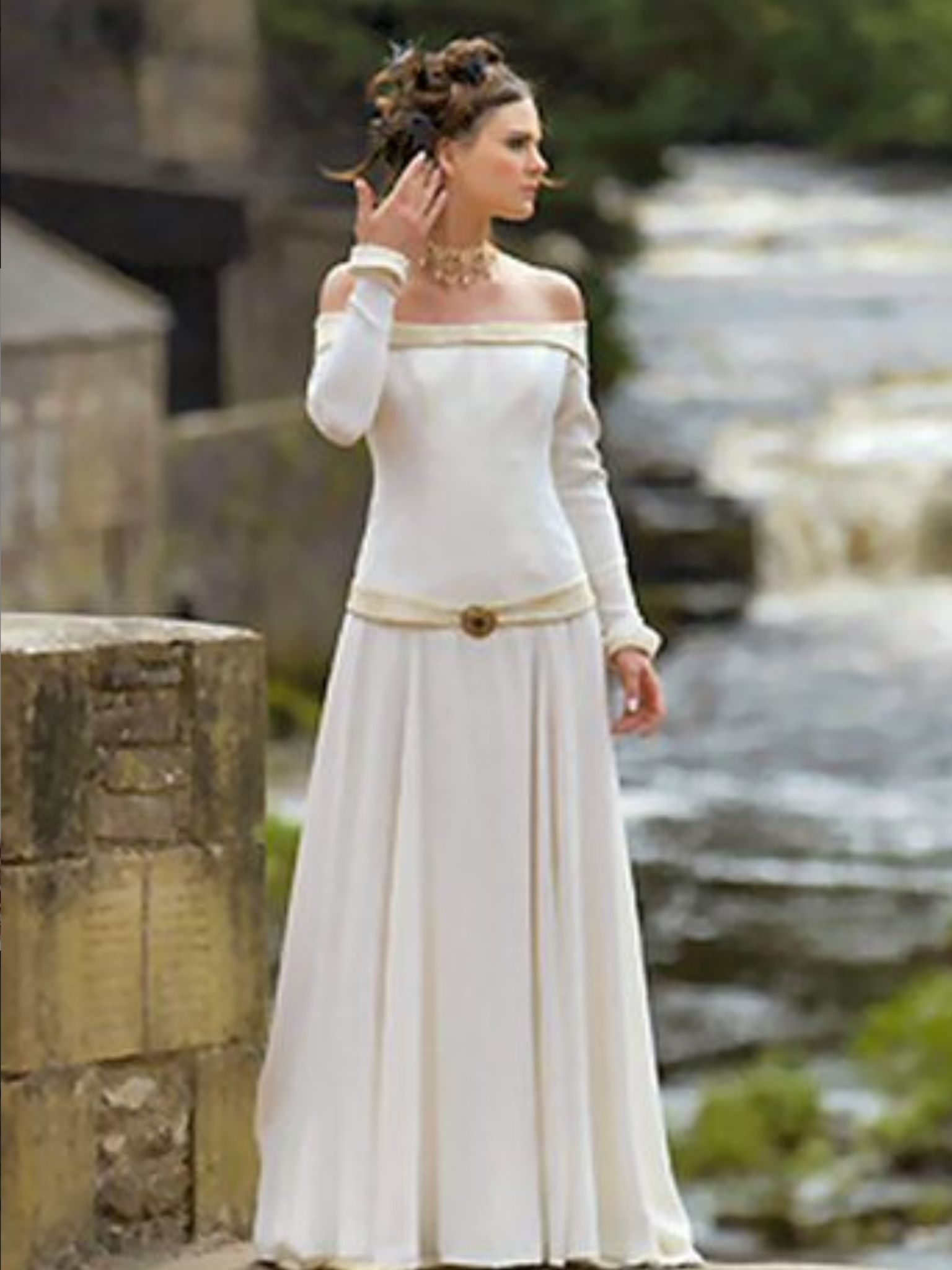 irish medieval style wedding dress ireland pinterest