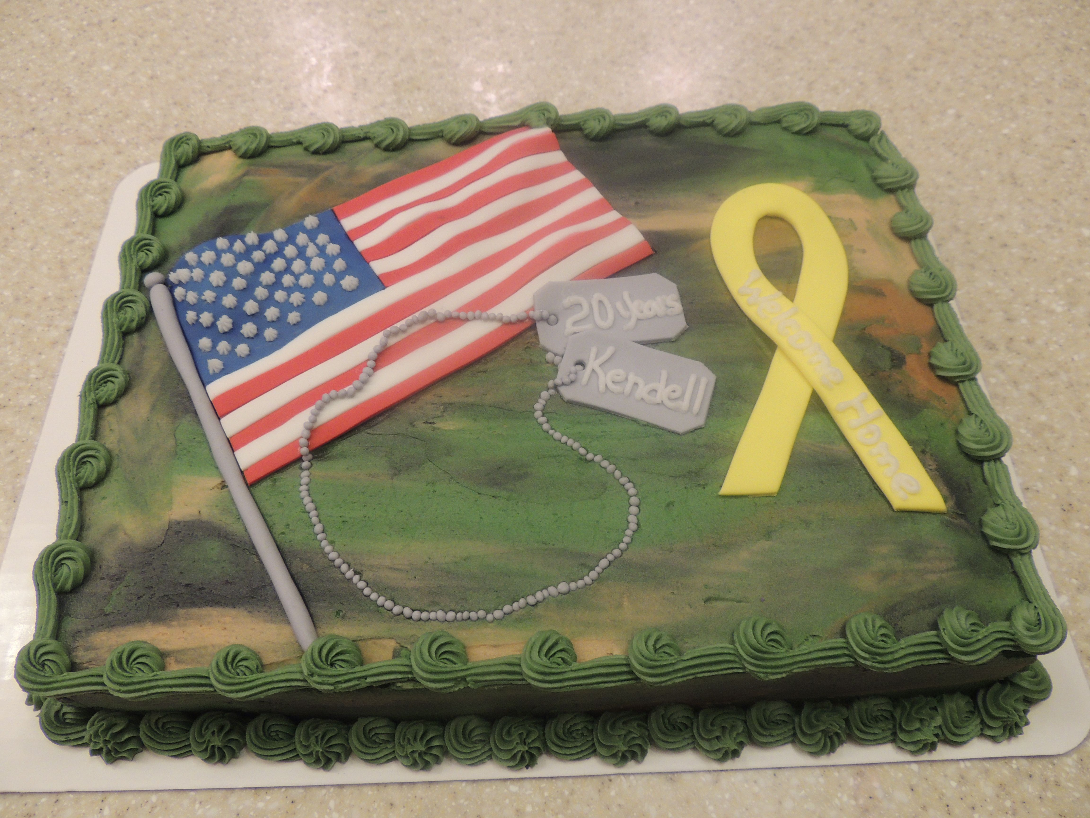 Welcome home military cake ideas 52007 welcome home for Welcome home soldier decorations