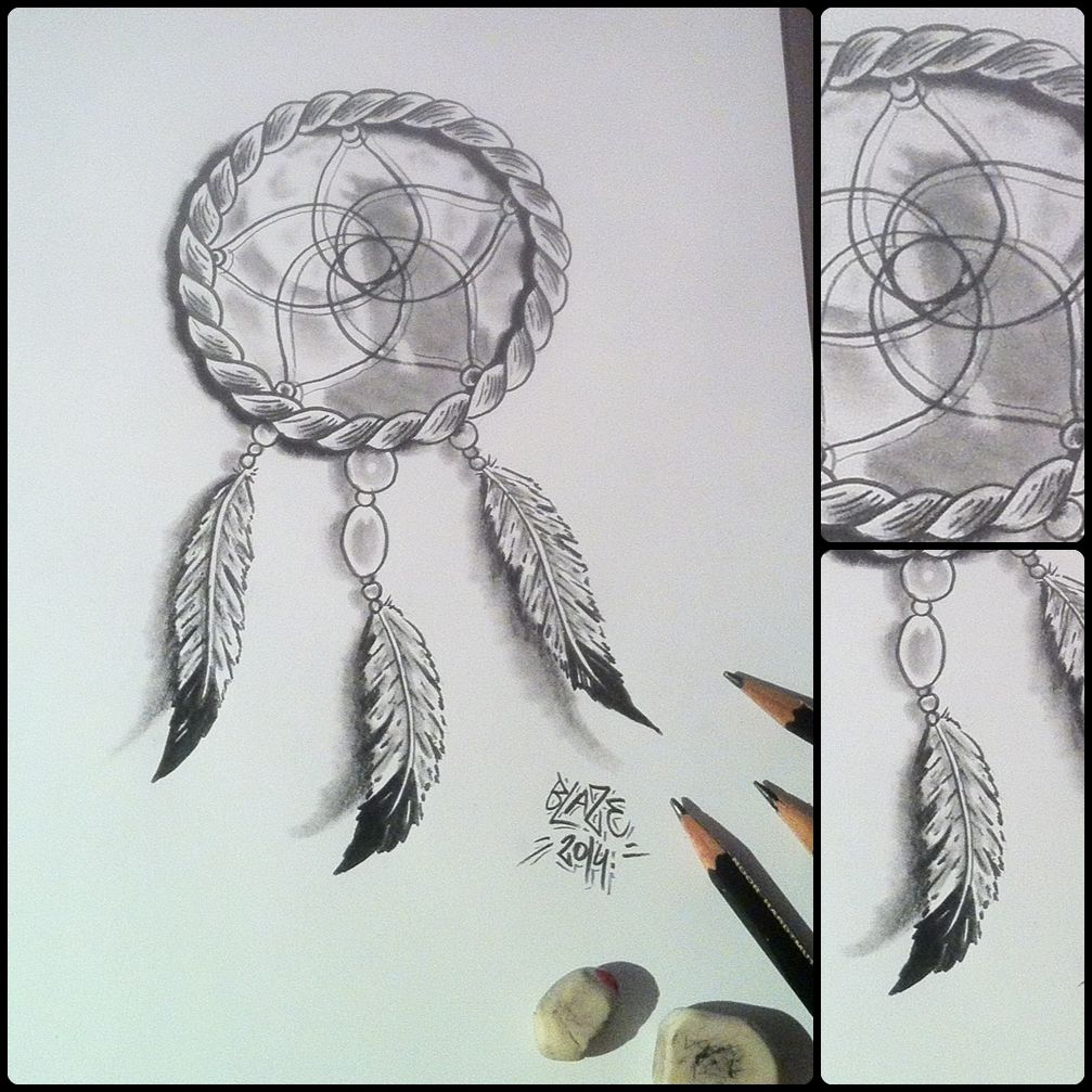 Dream catcher; pencil drawing by Blaze | Drawings and Art ...