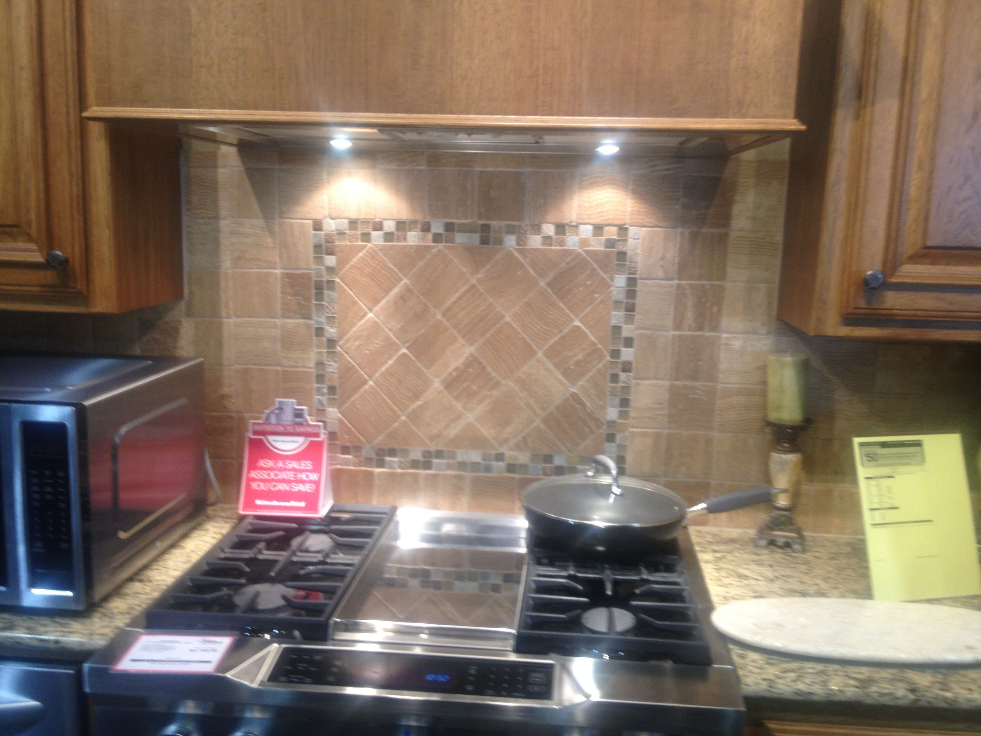 Backsplash Design Above Stove Kitchen Remodel Pinterest